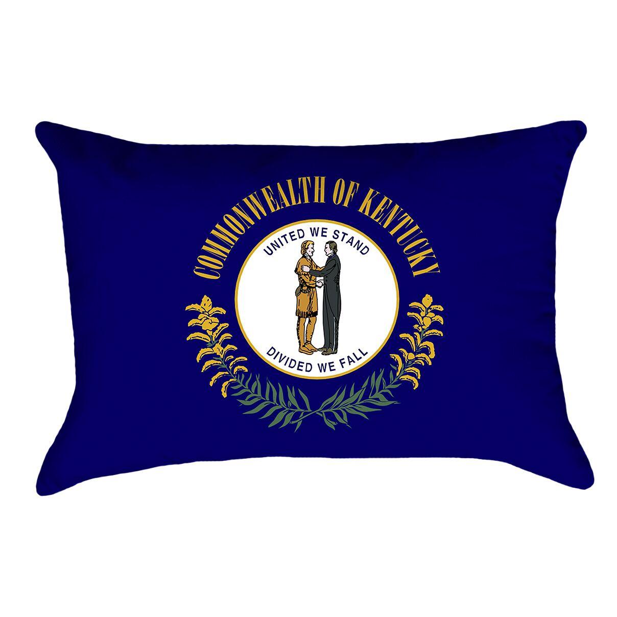 Centers Kentucky Flag Pillow Material/Product Type: UV Properties/Lumbar Pillow