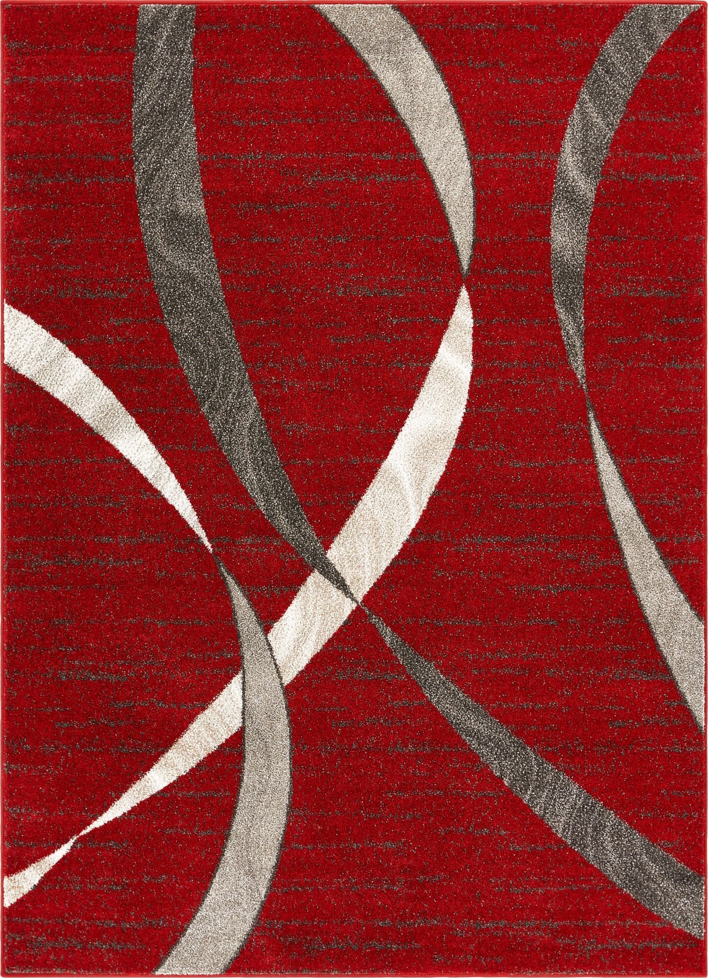 Hans Red Area Rug Rug Size: Rectangle 5'3