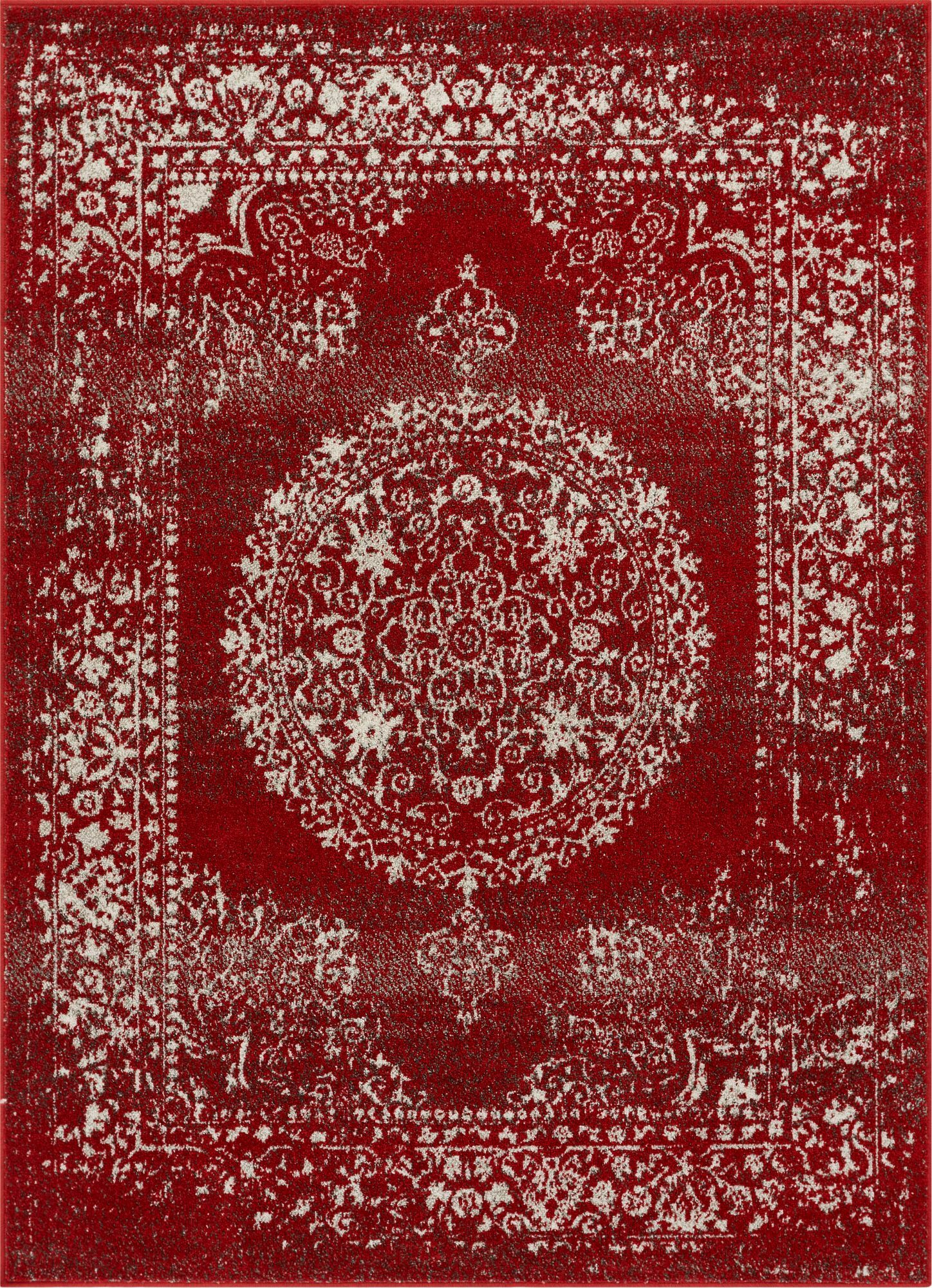 Rothenberg Red Area Rug Rug Size: Rectangle 7'10