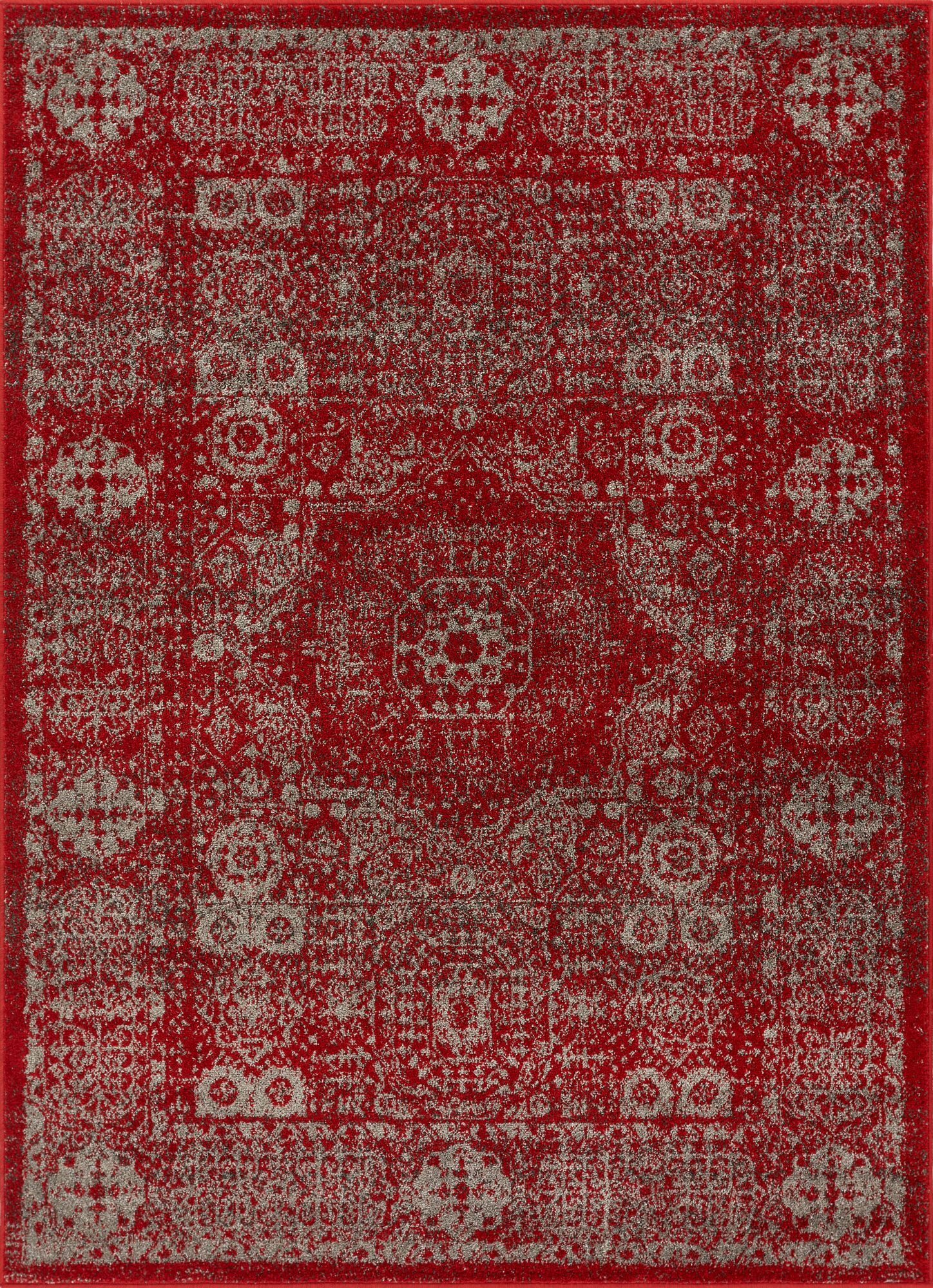 Corsican Red Area Rug Rug Size: Rectangle 7'10