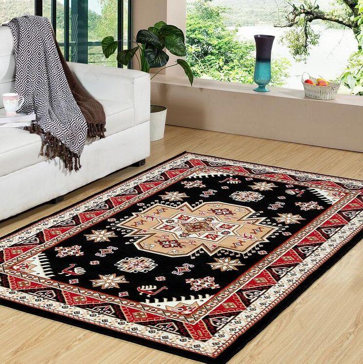 Molinaro Premium Black/Beige Indoor/Outdoor Area Rug
