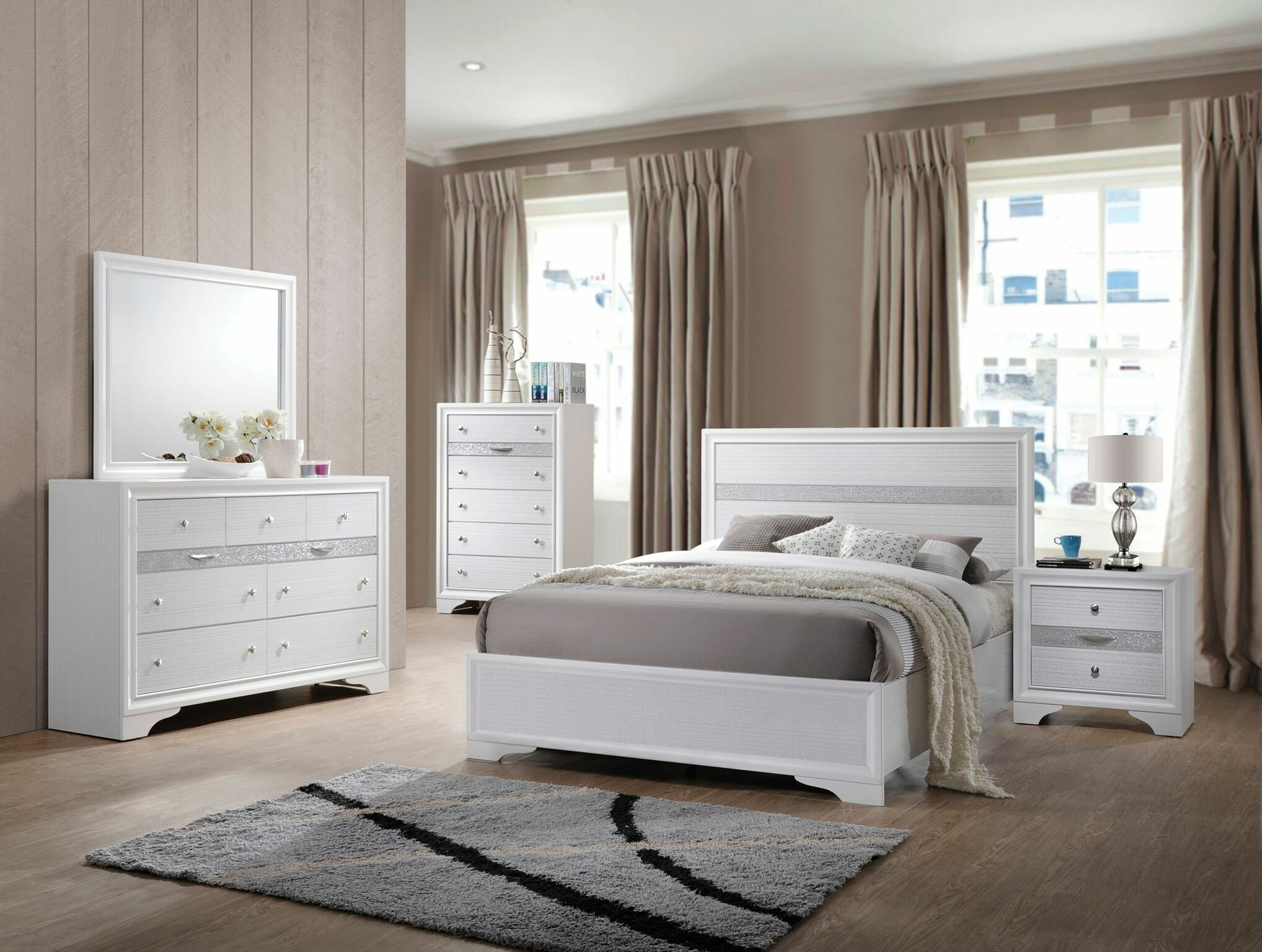 Gilliam Panel Bed Color: White, Size: Twin