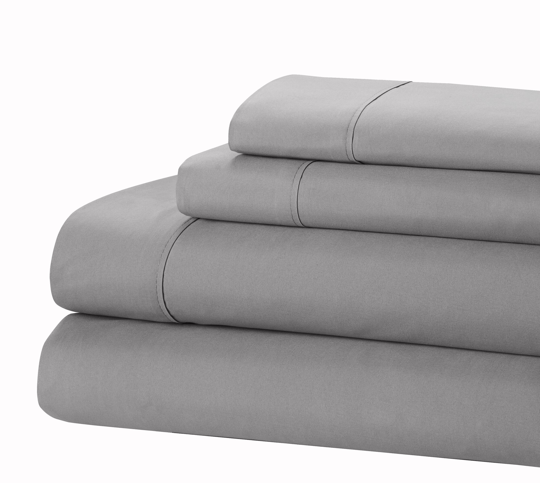 400 Thread Count 100% Cotton Sheet Set Size: King, Color: Gray