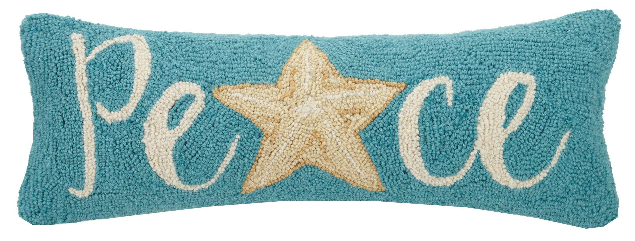 Flanagan Starfish Peace Hook Wool Lumbar Pillow