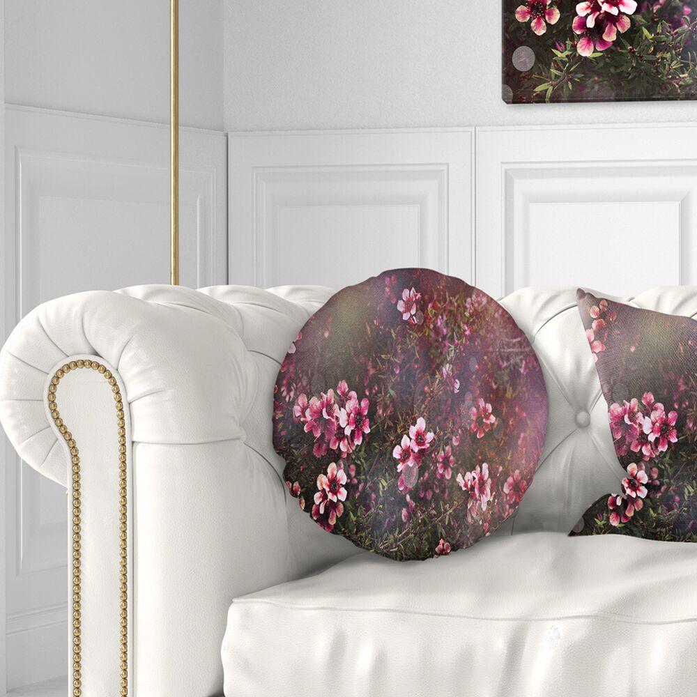 Photography Sakura Japanese Cherry Throw Pillow Size: 20