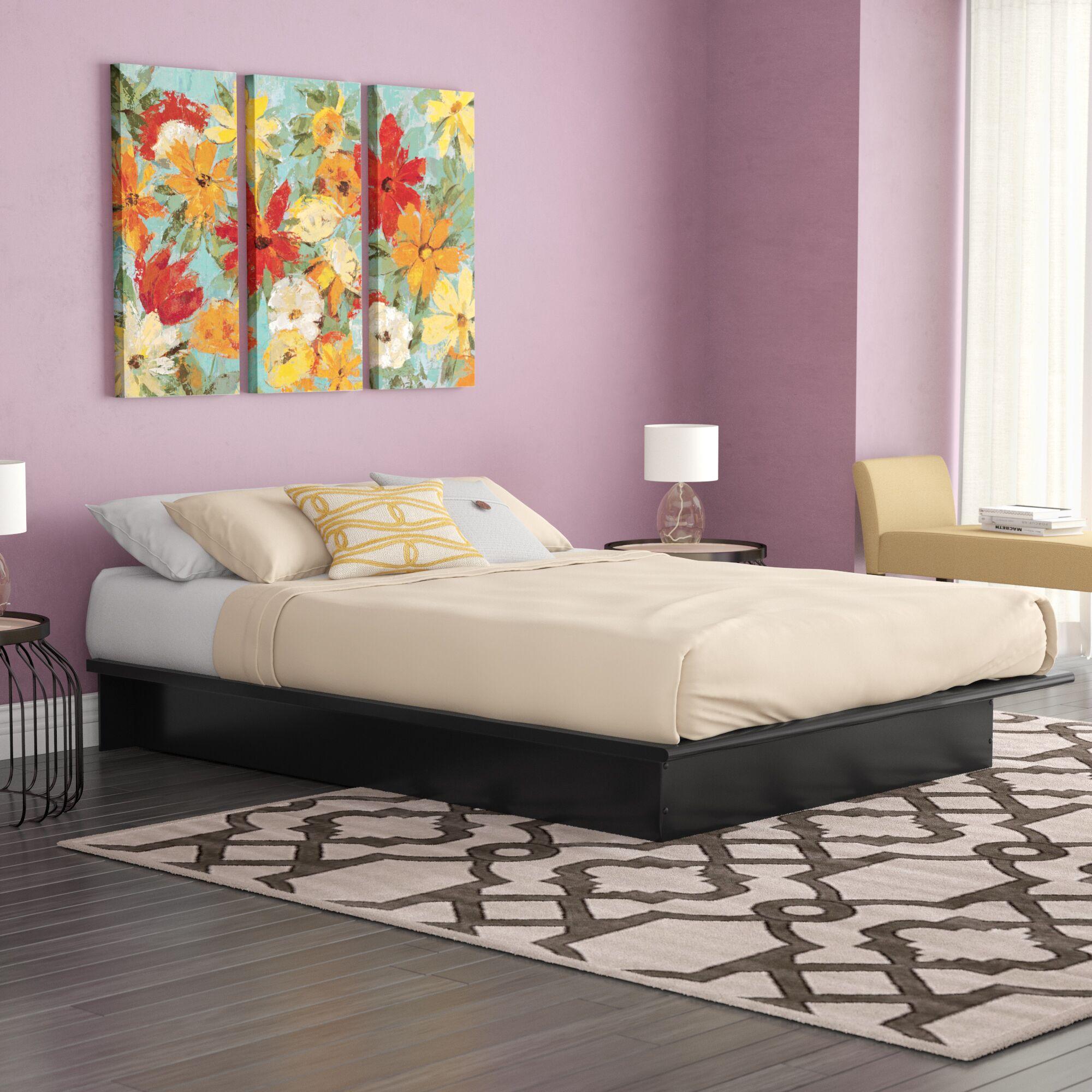 Raasch Platform Bed Size: Queen, Color: Black
