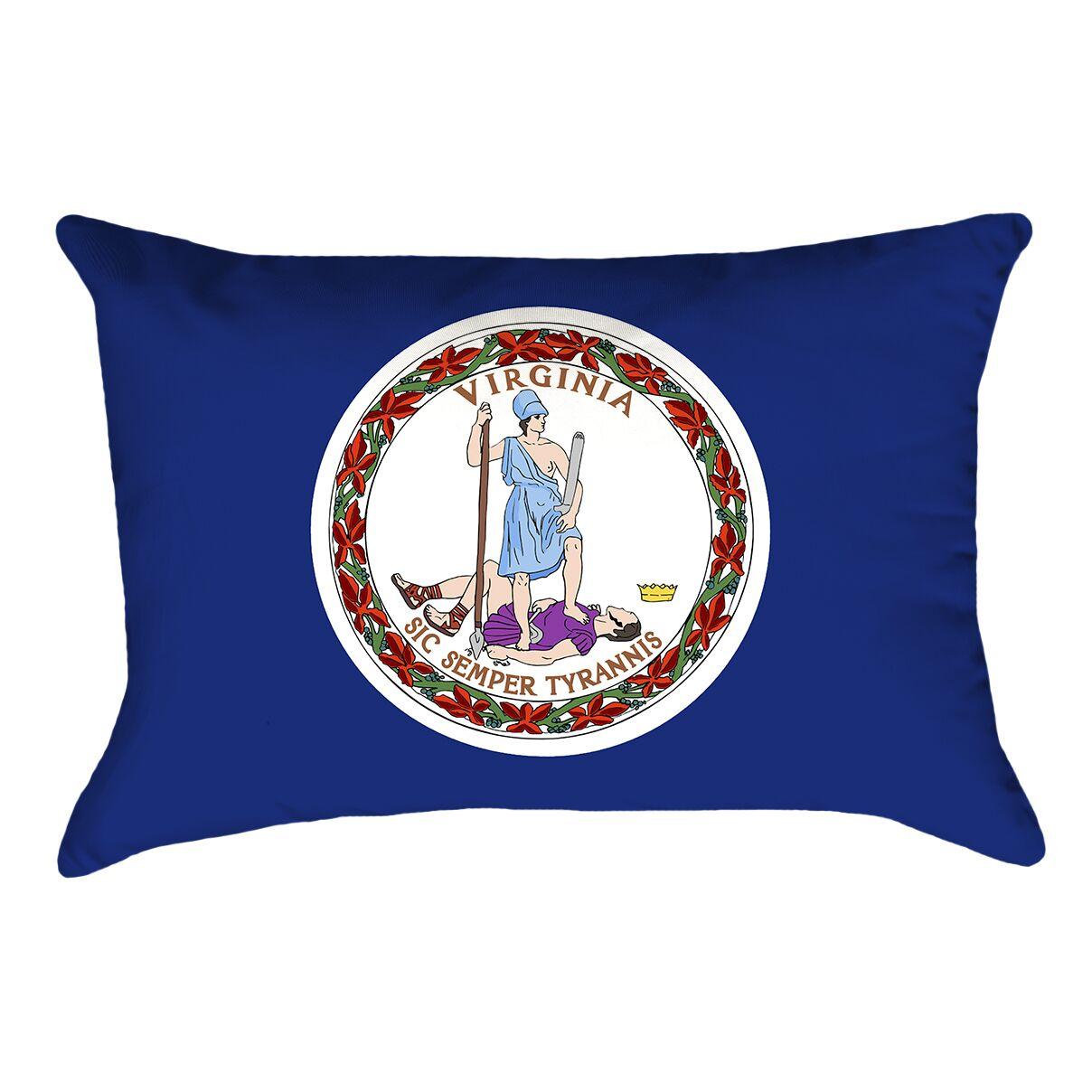 Virginia Flag Pillow Fabric: Cotton, Product Type: Lumber Pillow
