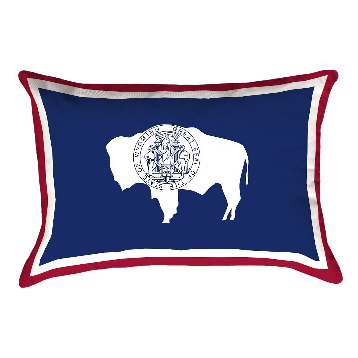 Katelyn Smith Wyoming Flag Pillow Fabric: Linen, Product Type: Pillow Cover