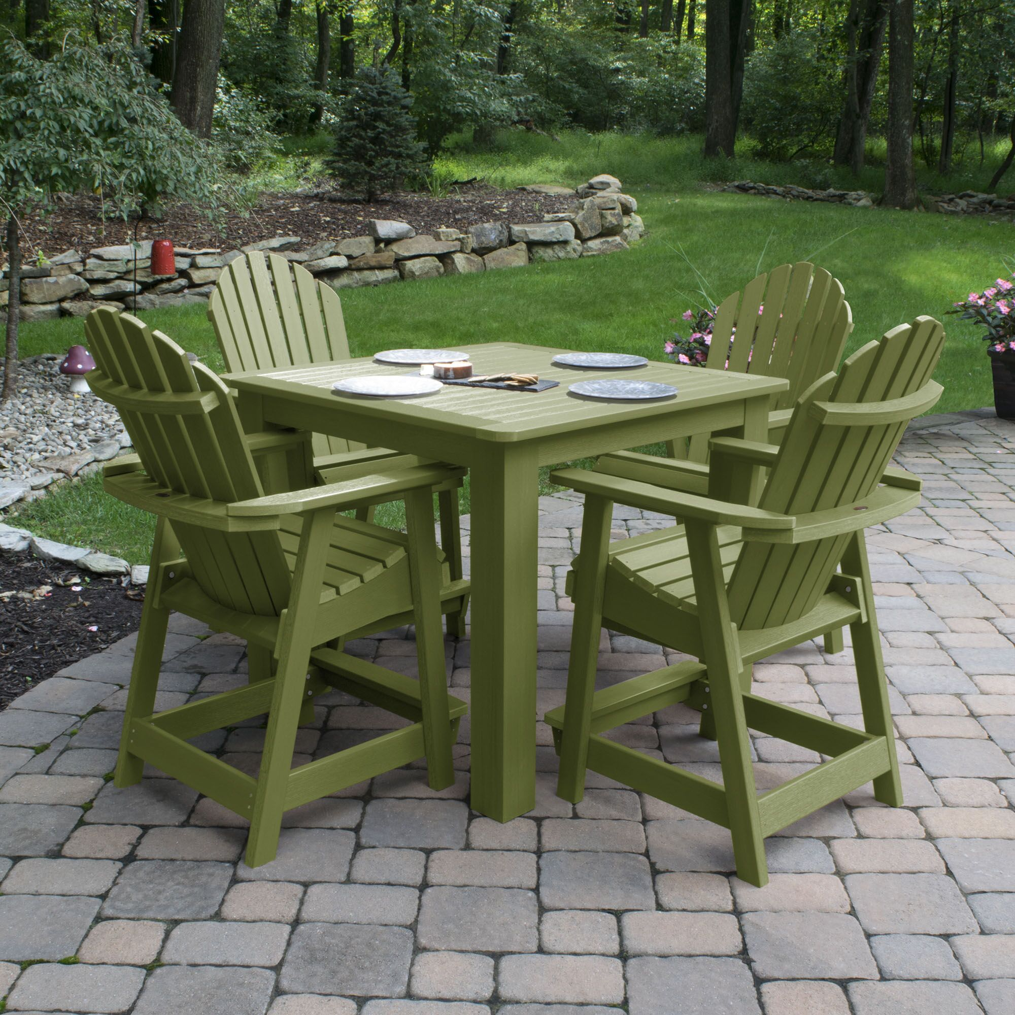 Magaw 5 Piece Dining Set Color: Dried Sage