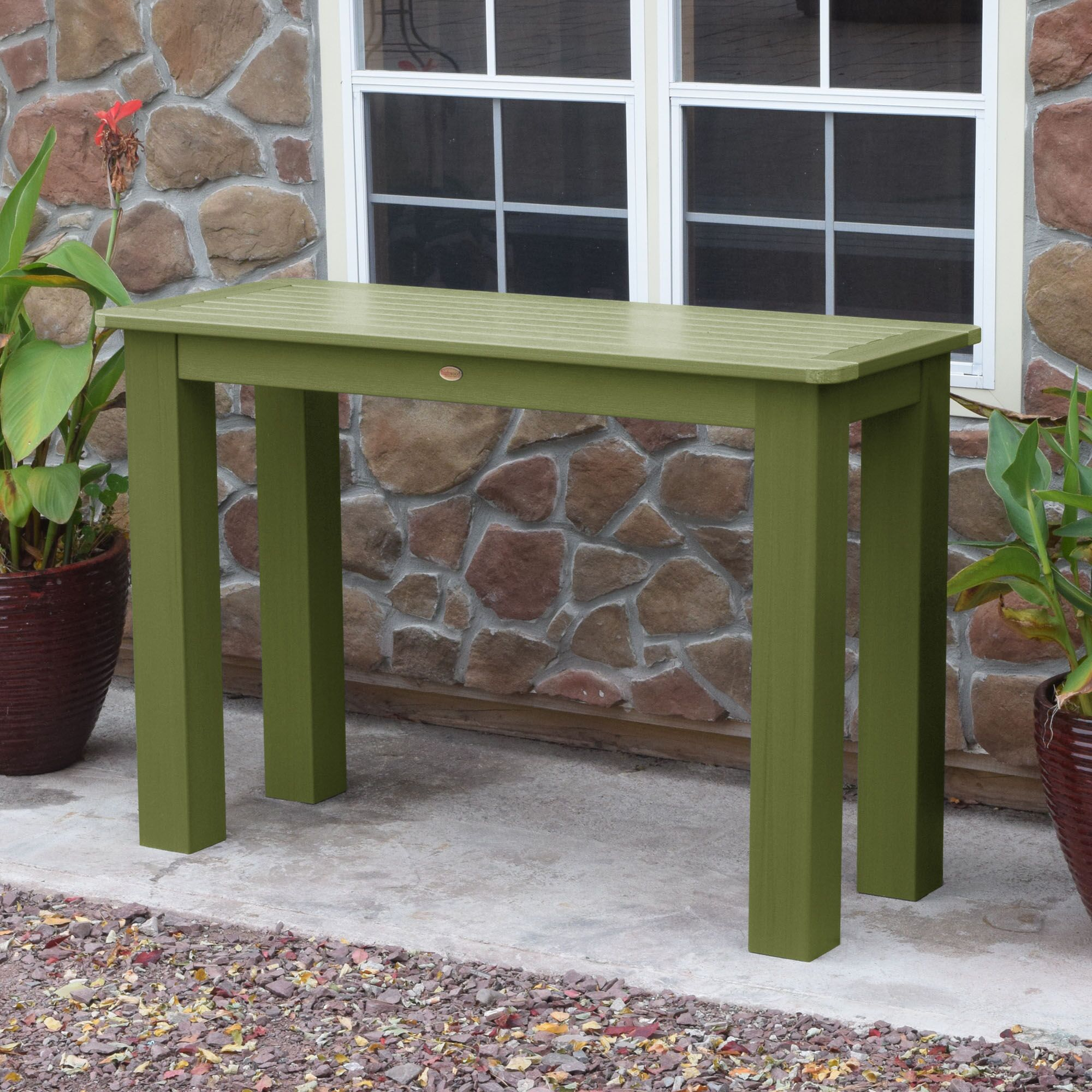 Charlebois Counter Console Table Color: Dried Sage