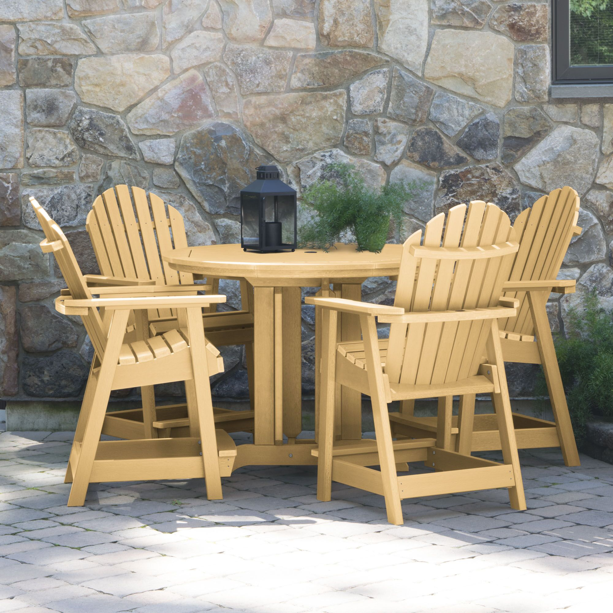 Magaw 5 Piece Dining Set Color: Sandstone