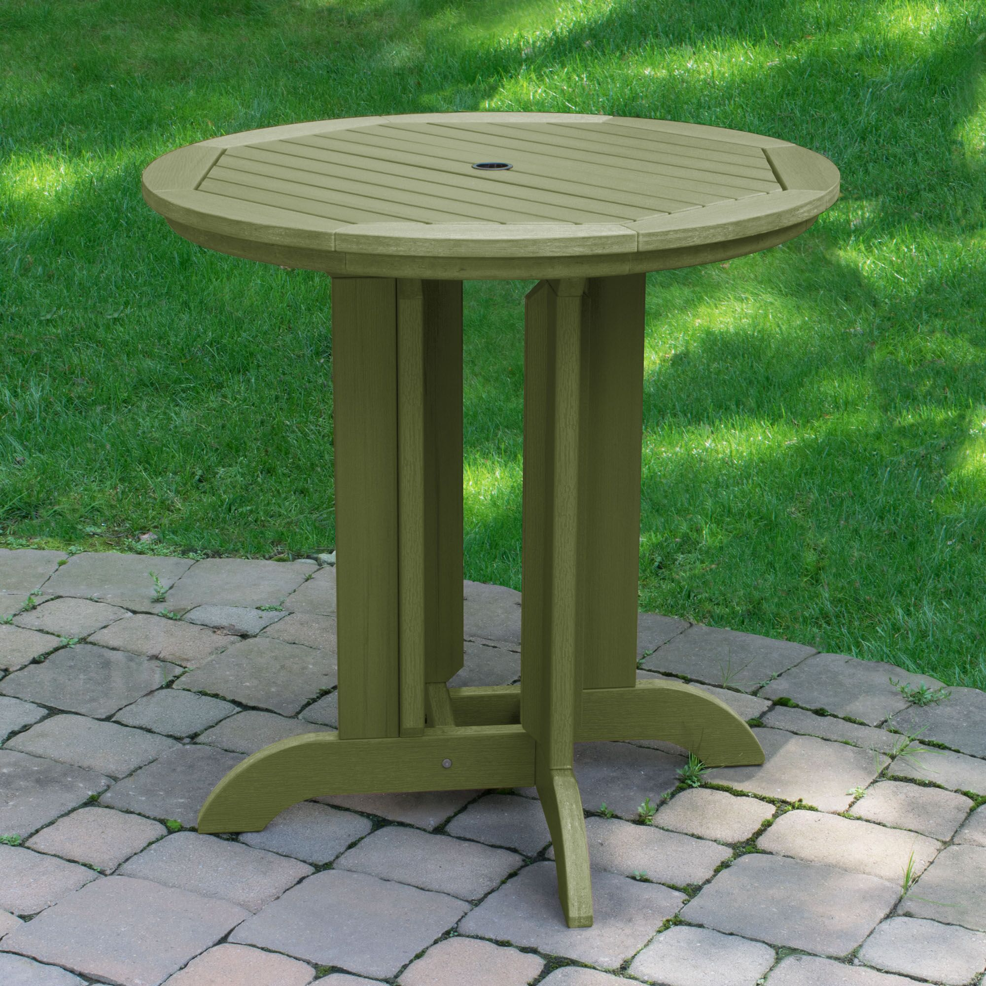 Charlcombe Round Counter Dining Table Color: Tuscan Taupe, Table Top Size: 48