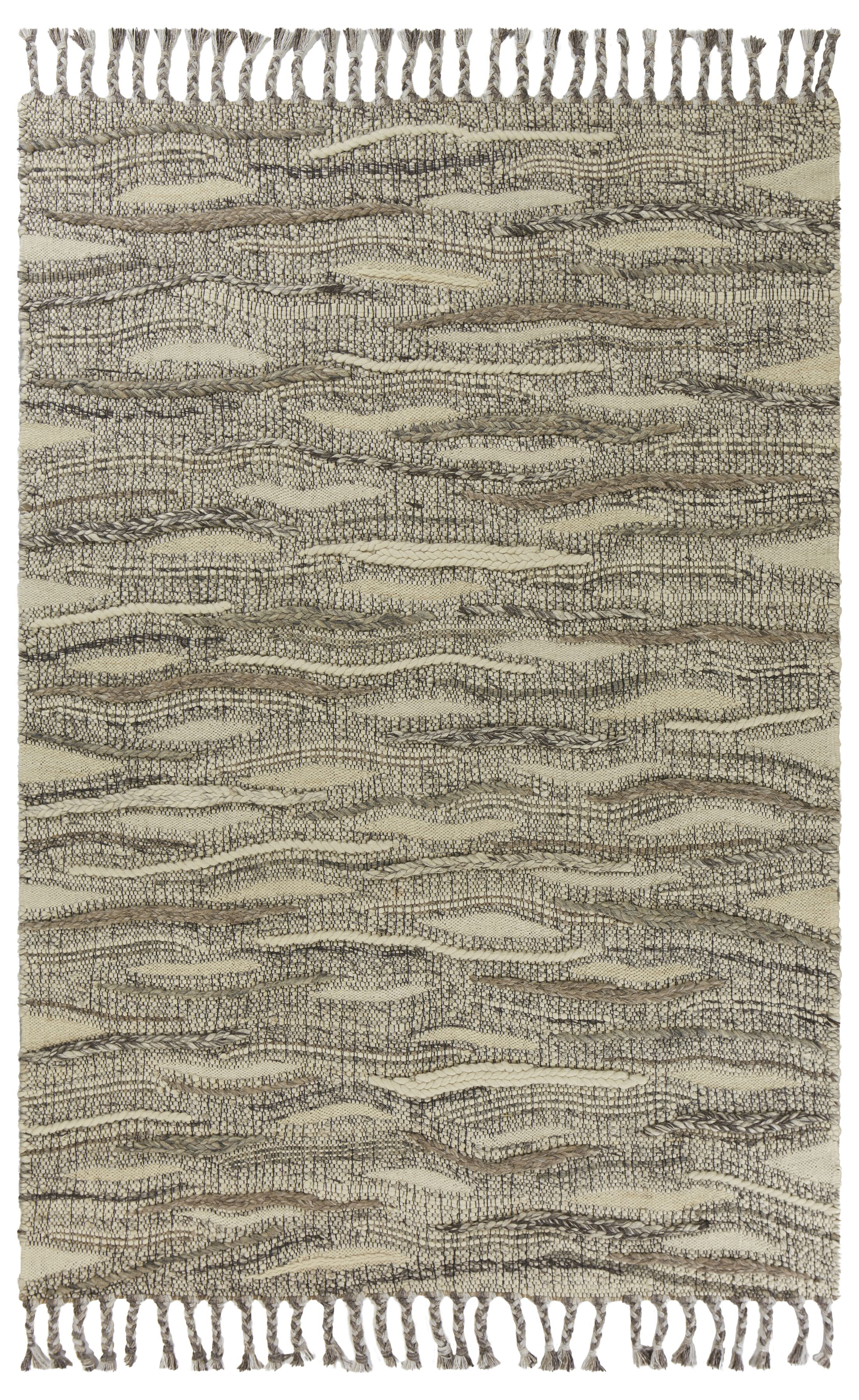 Gritton Breeze Hand-Woven Ivory Area Rug Rug Size: Rectangle 5' x 7'