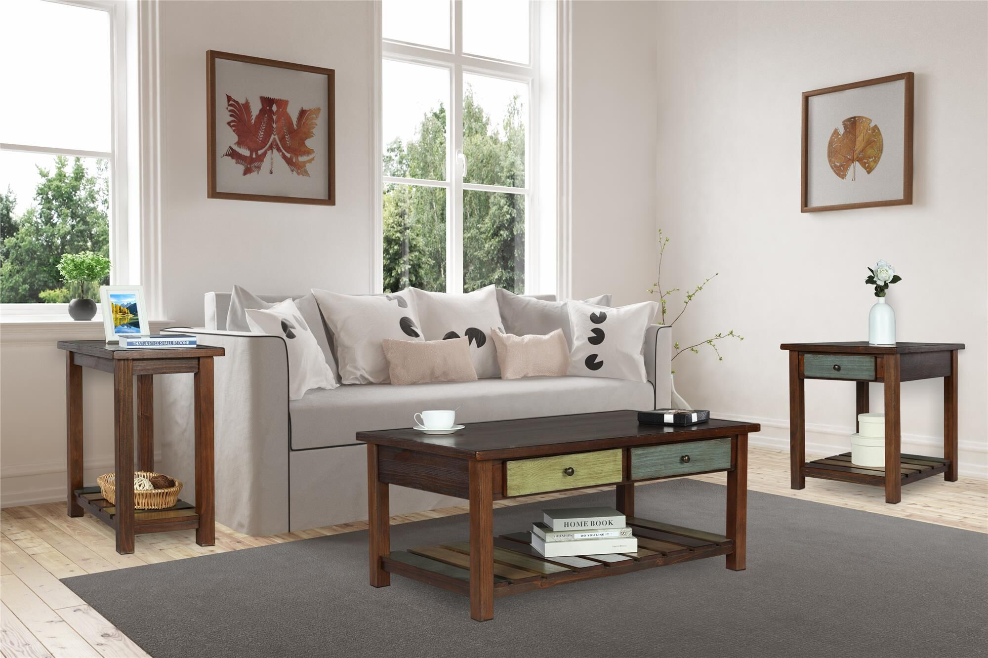 Roemer 3 Piece Coffee Table Set