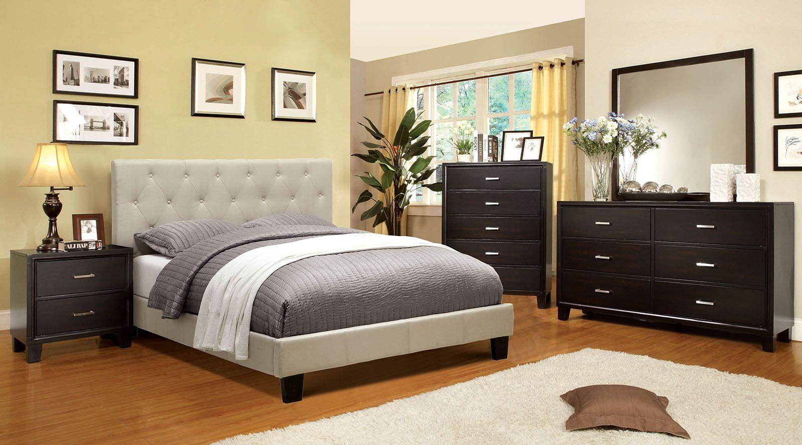 Allsop Upholstered Platform Bed Size: Twin, Color: Gray