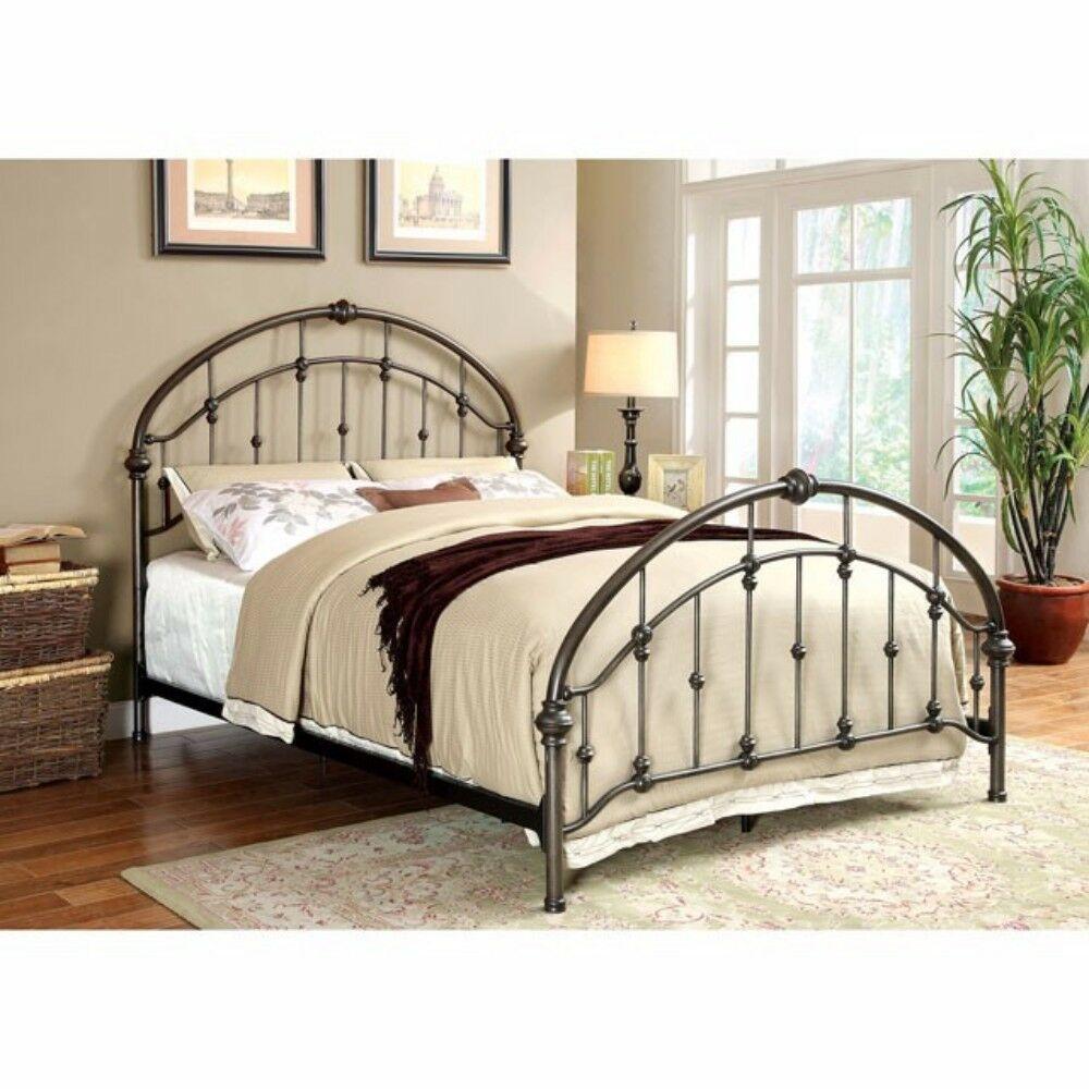 Laffey Metal Queen Panel Bed