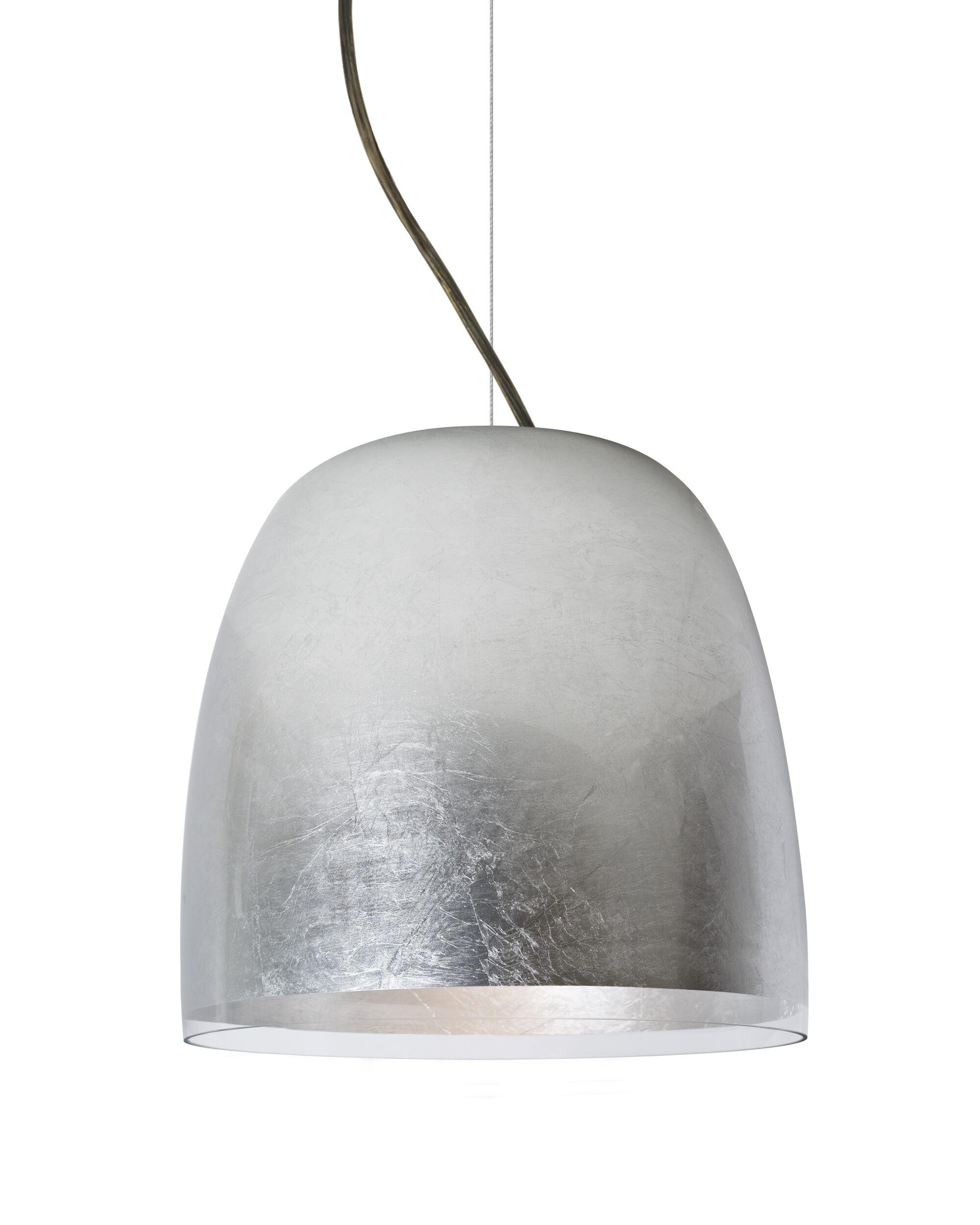 Clarissa 1-Light Dome Pendant Finish: Bronze, Shade Color: Silver Foil