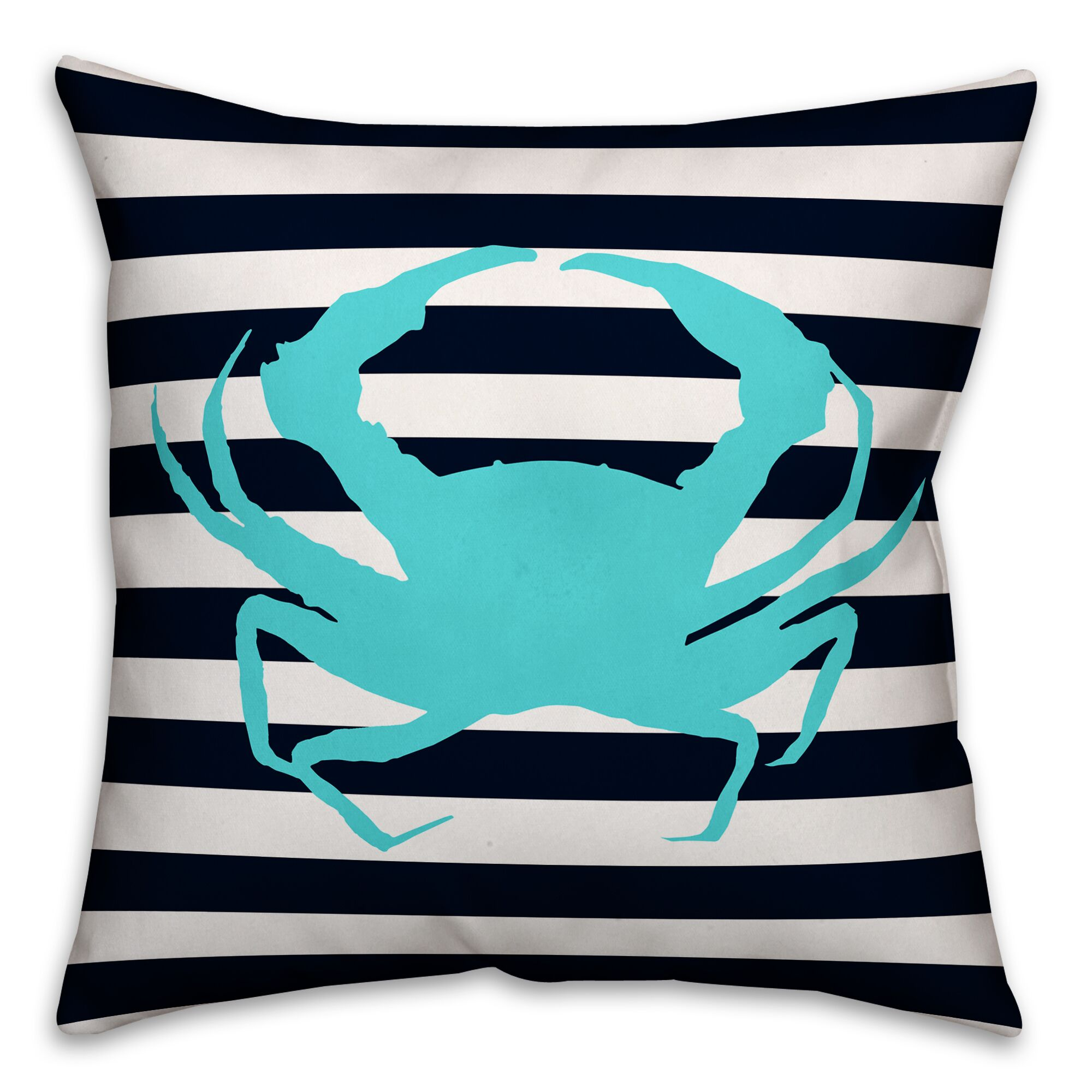 Yowell Crab Outdoor Throw Pillow
