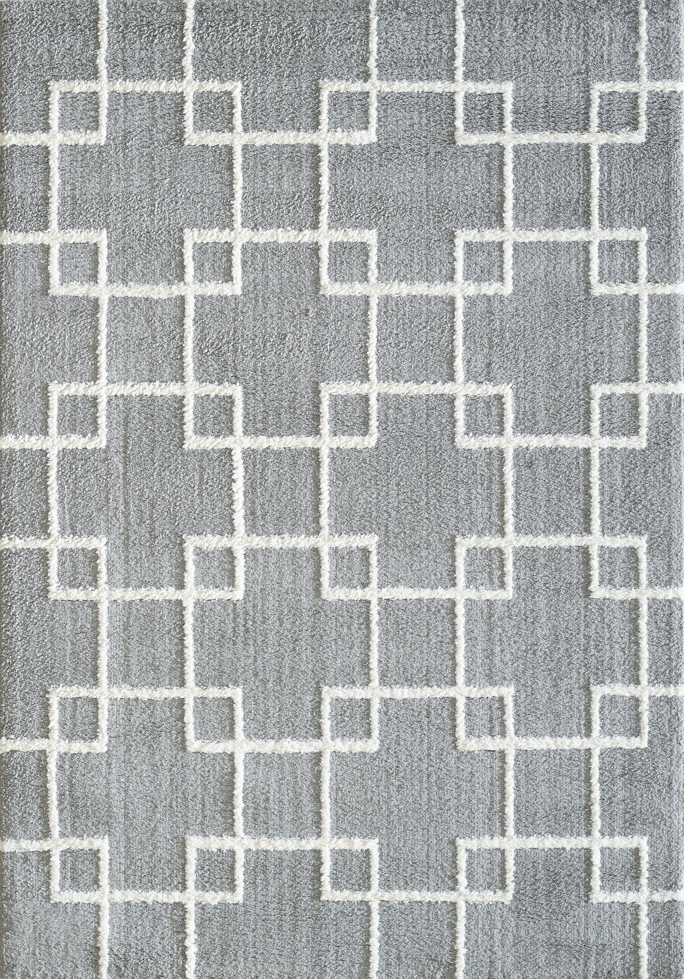 Kempf Silver Area Rug Rug Size: Rectangle 9'2