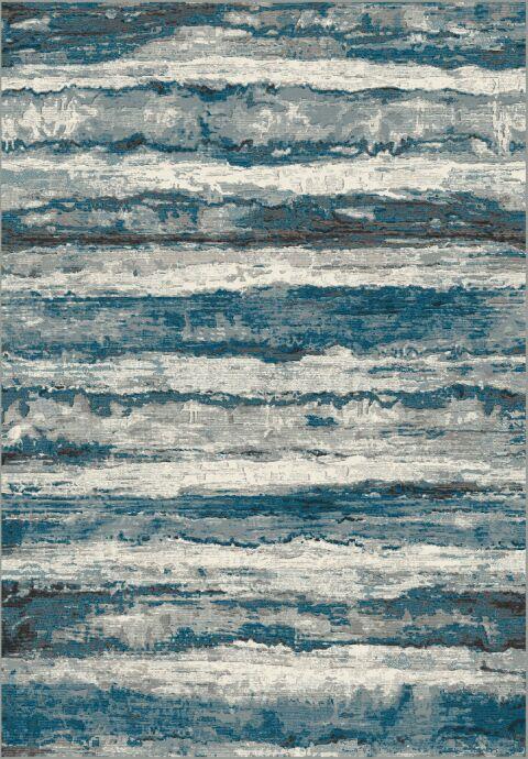 Miskell Blue/Beige Area Rug Rug Size: Rectangle 5'3