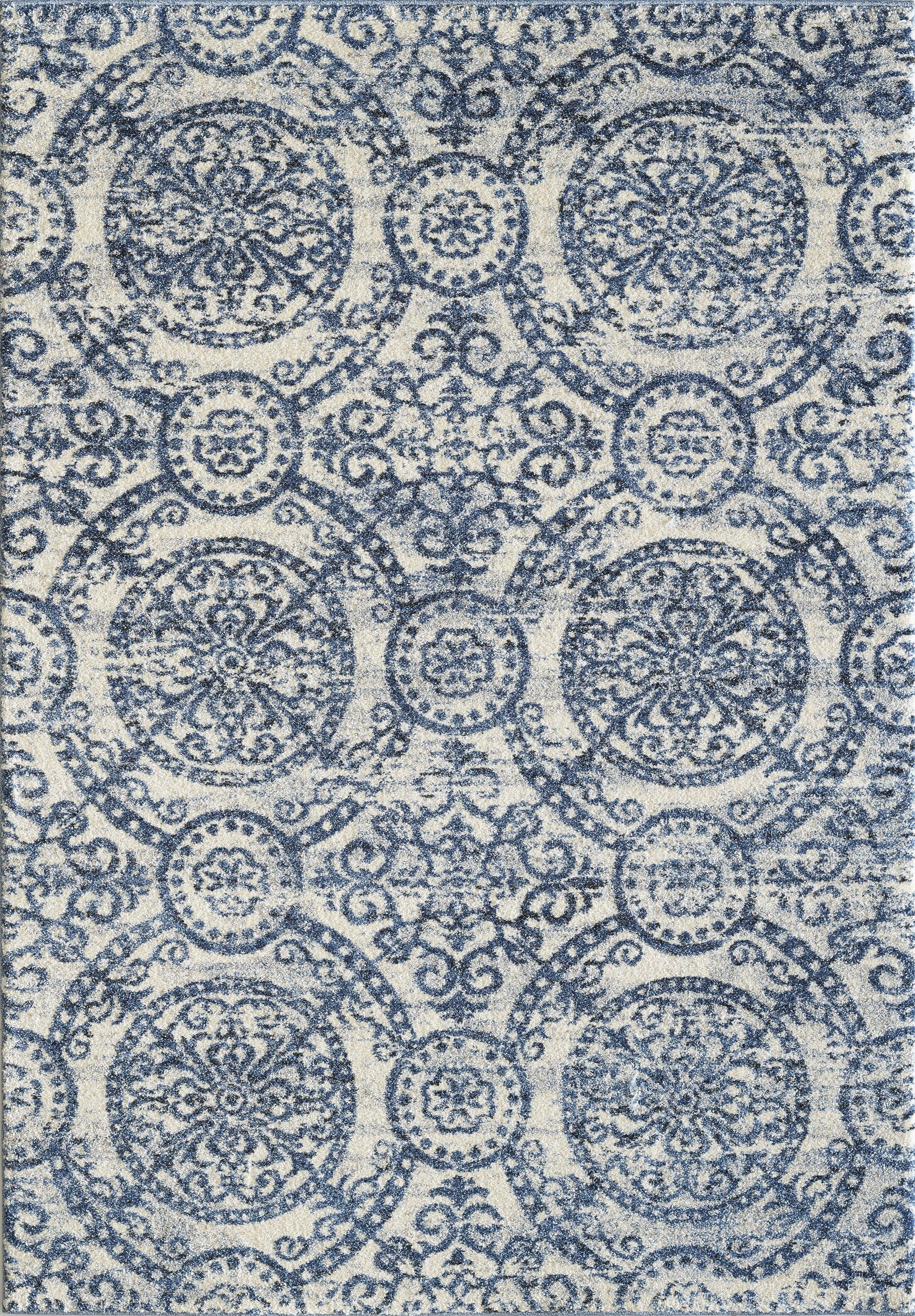 Pascua Blue Area Rug Rug Size: Rectangle 5'3
