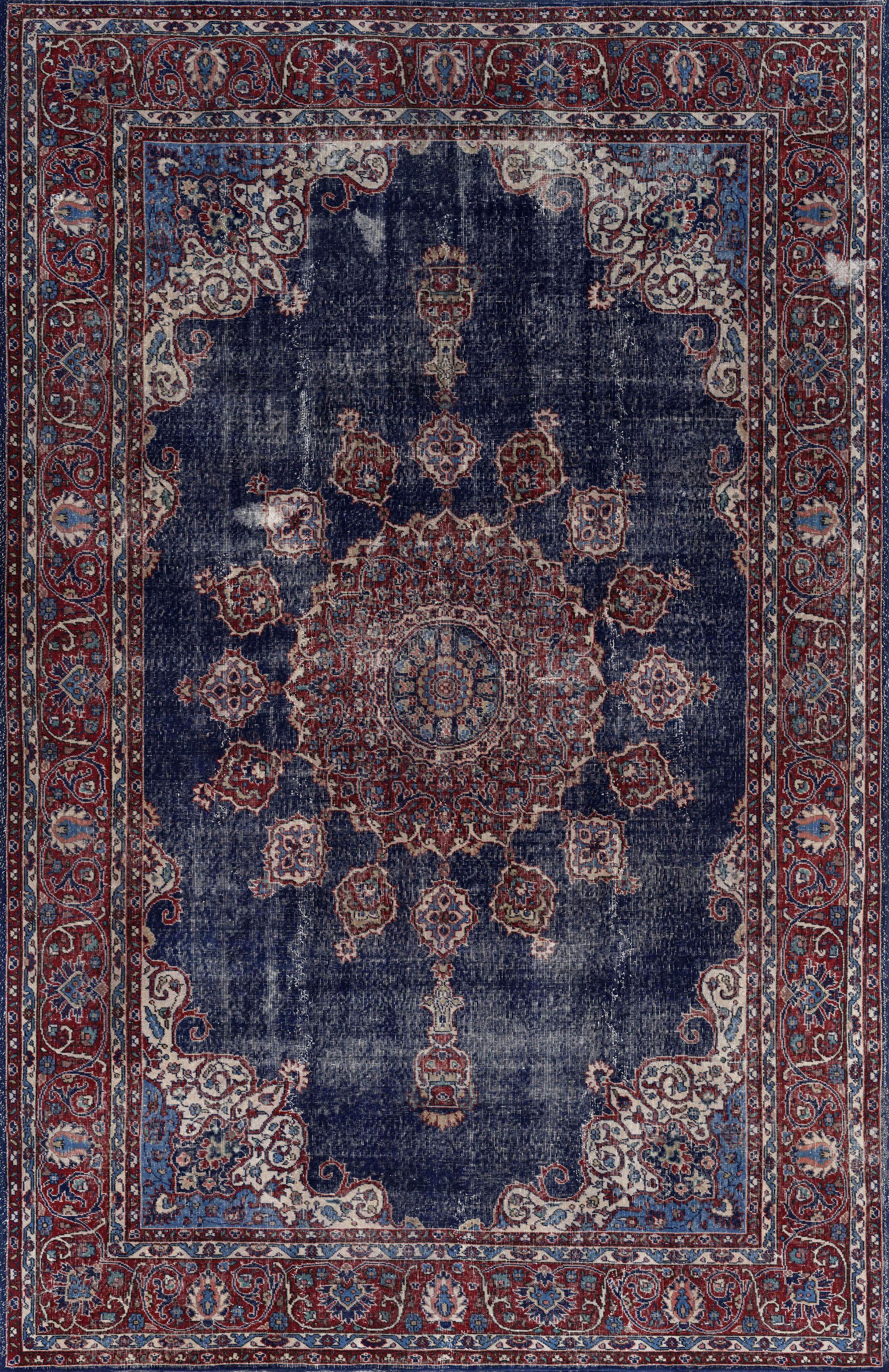 Agadir Denim/Burgundy Area Rug Rug Size: Rectangle 5'3