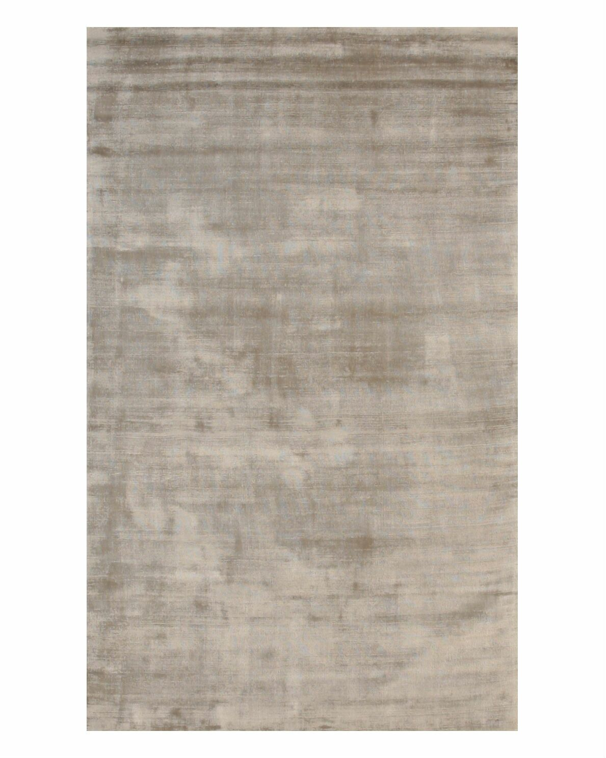 Gerow Viscose Solid Random Hand-Woven Silver Area Rug Rug Size: Rectangle 7'9
