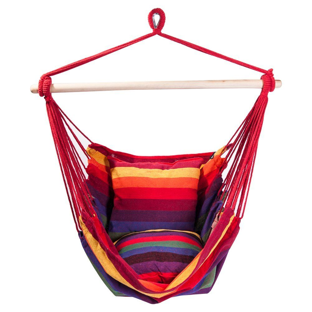 Hyacinthe Chair Hammock Color: Red/Yellow