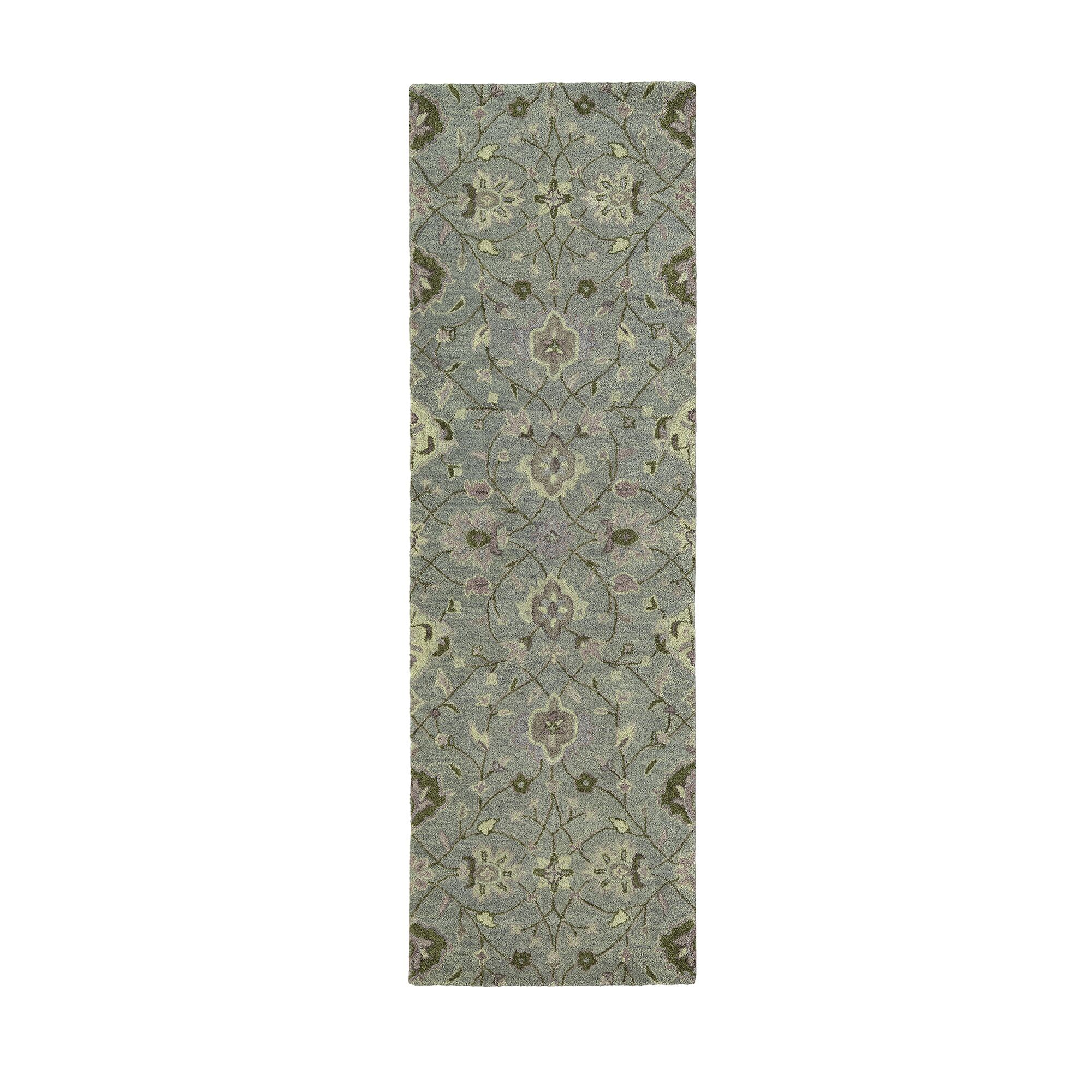 Romarin Hand-Tufted Wool Graphite/Mushroom Area Rug Rug Size: Runner 2'6