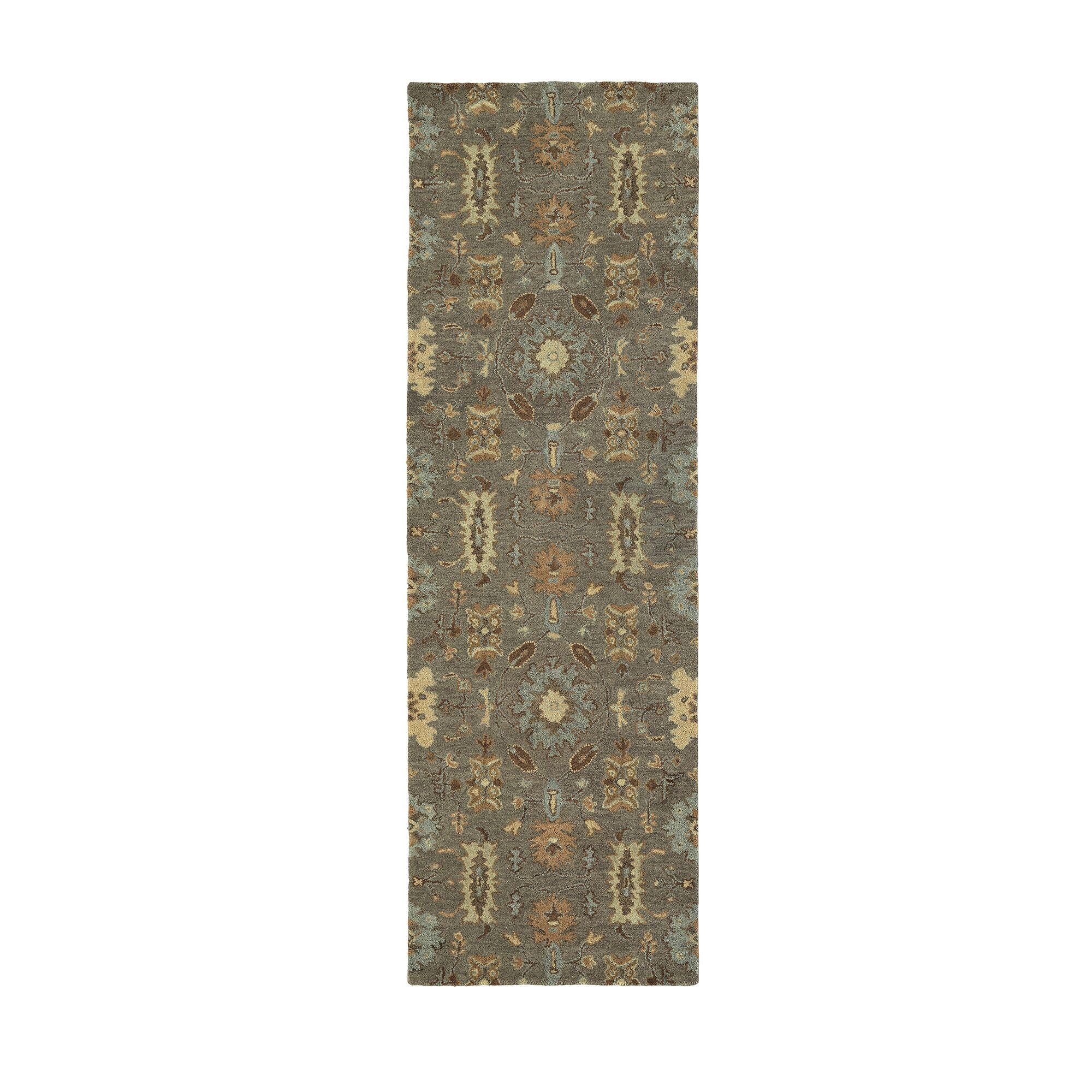 Romarin Hand-Tufted Wool Mushroom Area Rug Rug Size: Runner 2'6