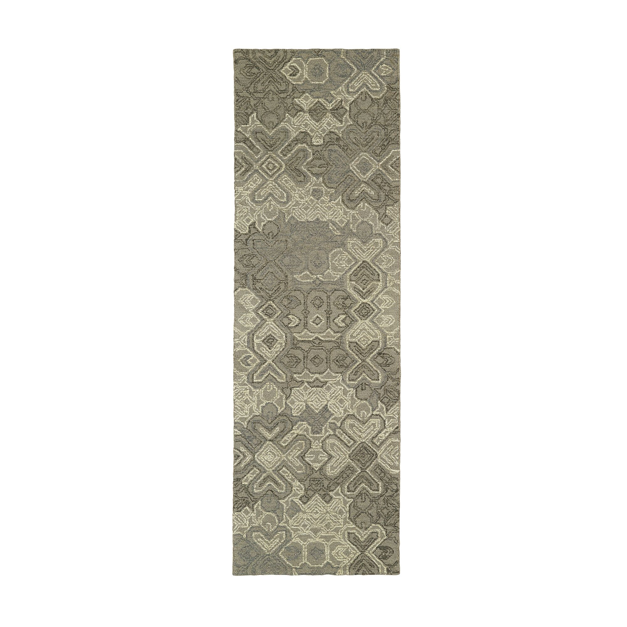 Stockman Hand-Tufted Wool Taupe/Gray Area Rug Rug Size: Runner 2'6