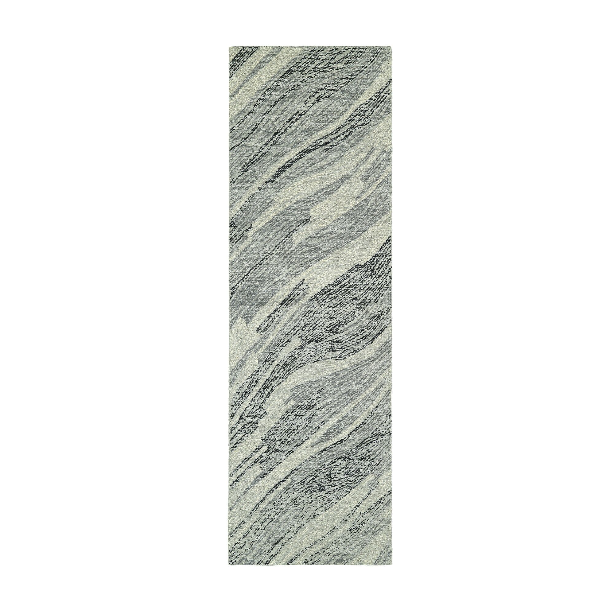 Stockman Hand-Tufted Wool Gray/Ivory Area Rug Rug Size: Runner 2'6