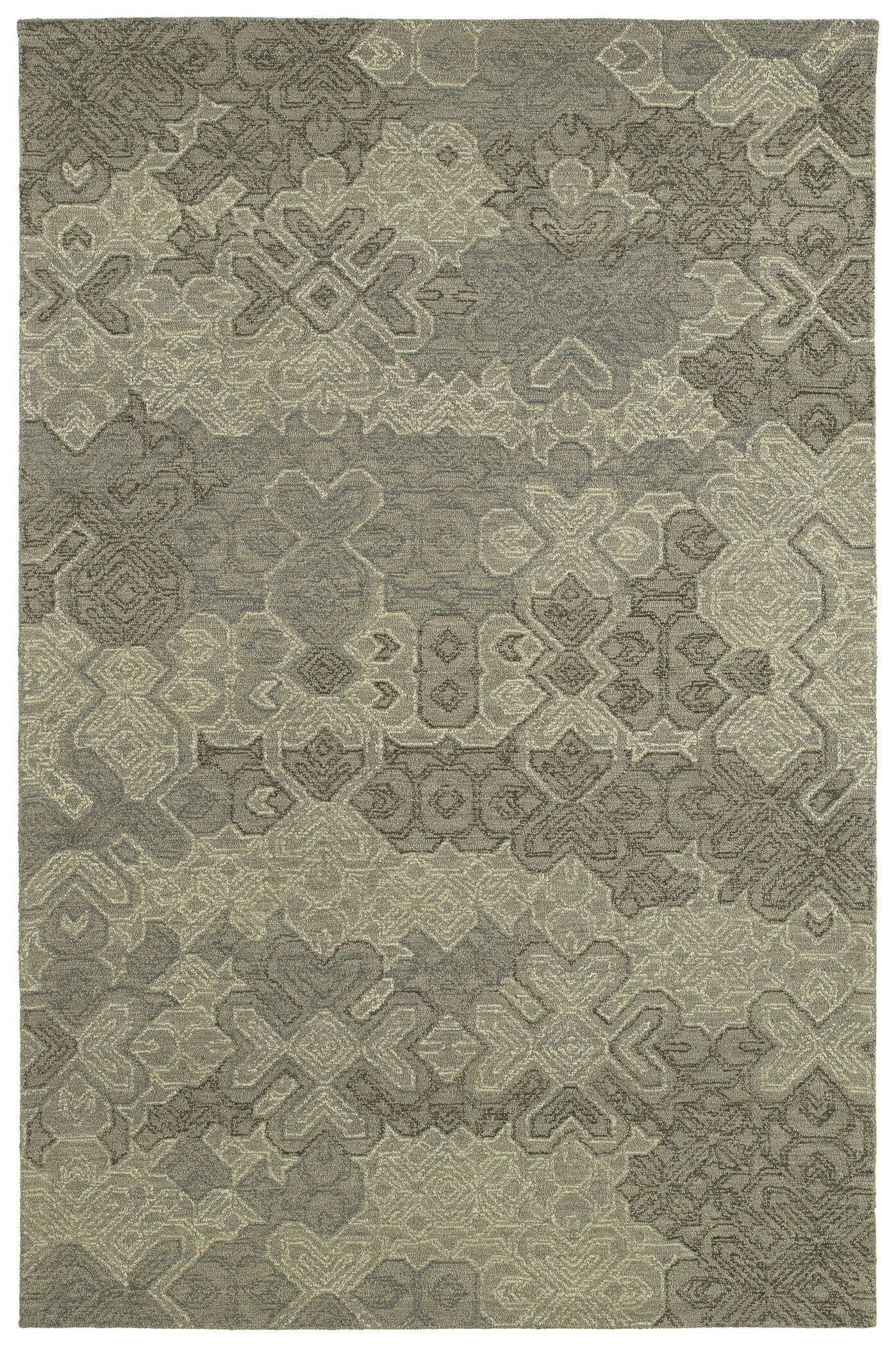 Stockman Hand-Tufted Wool Taupe/Gray Area Rug Rug Size: Rectangle 8' x 10'