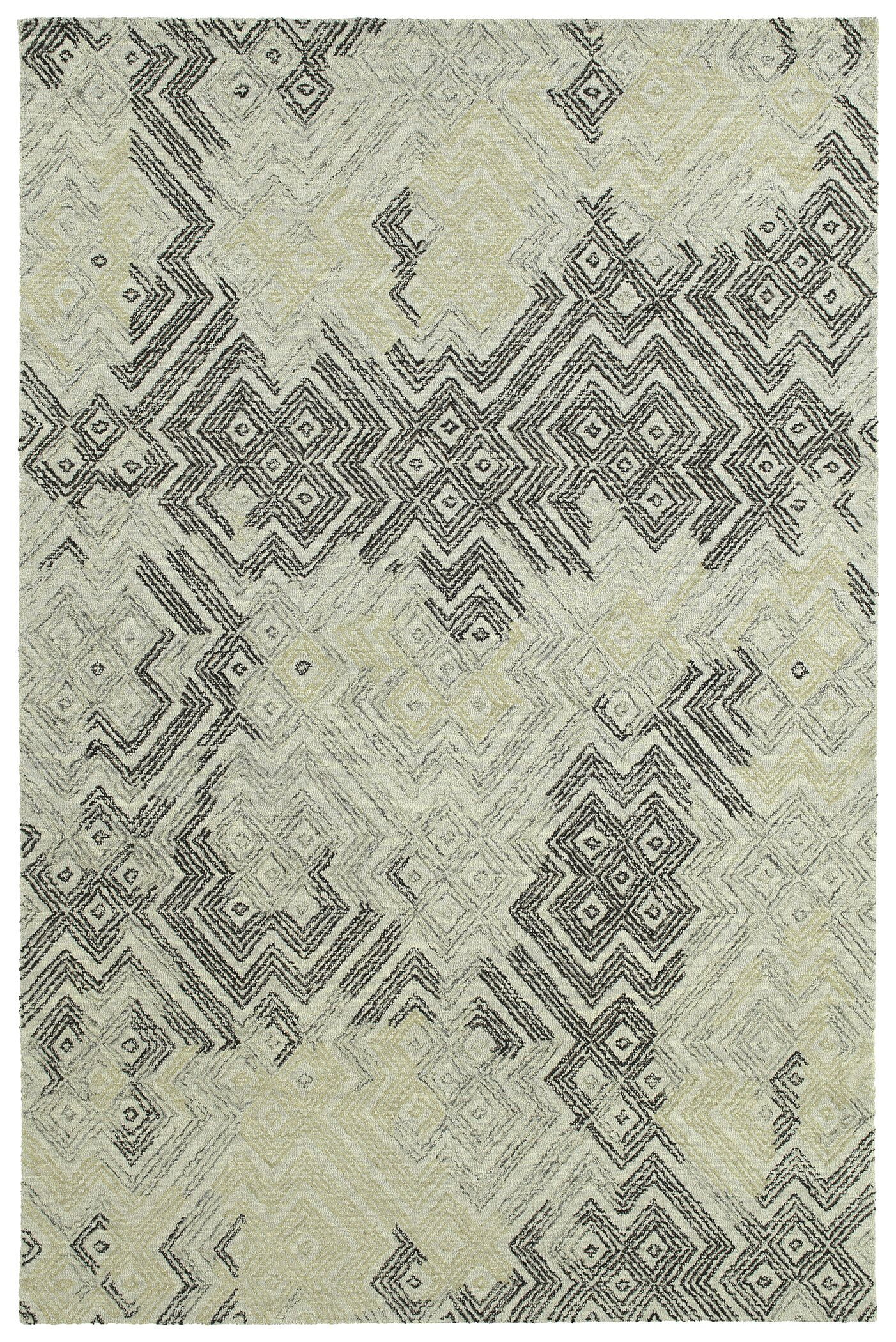 Stockman Hand-Tufted Wool Ivory/Gray Area Rug Rug Size: Rectangle 4' x 6'