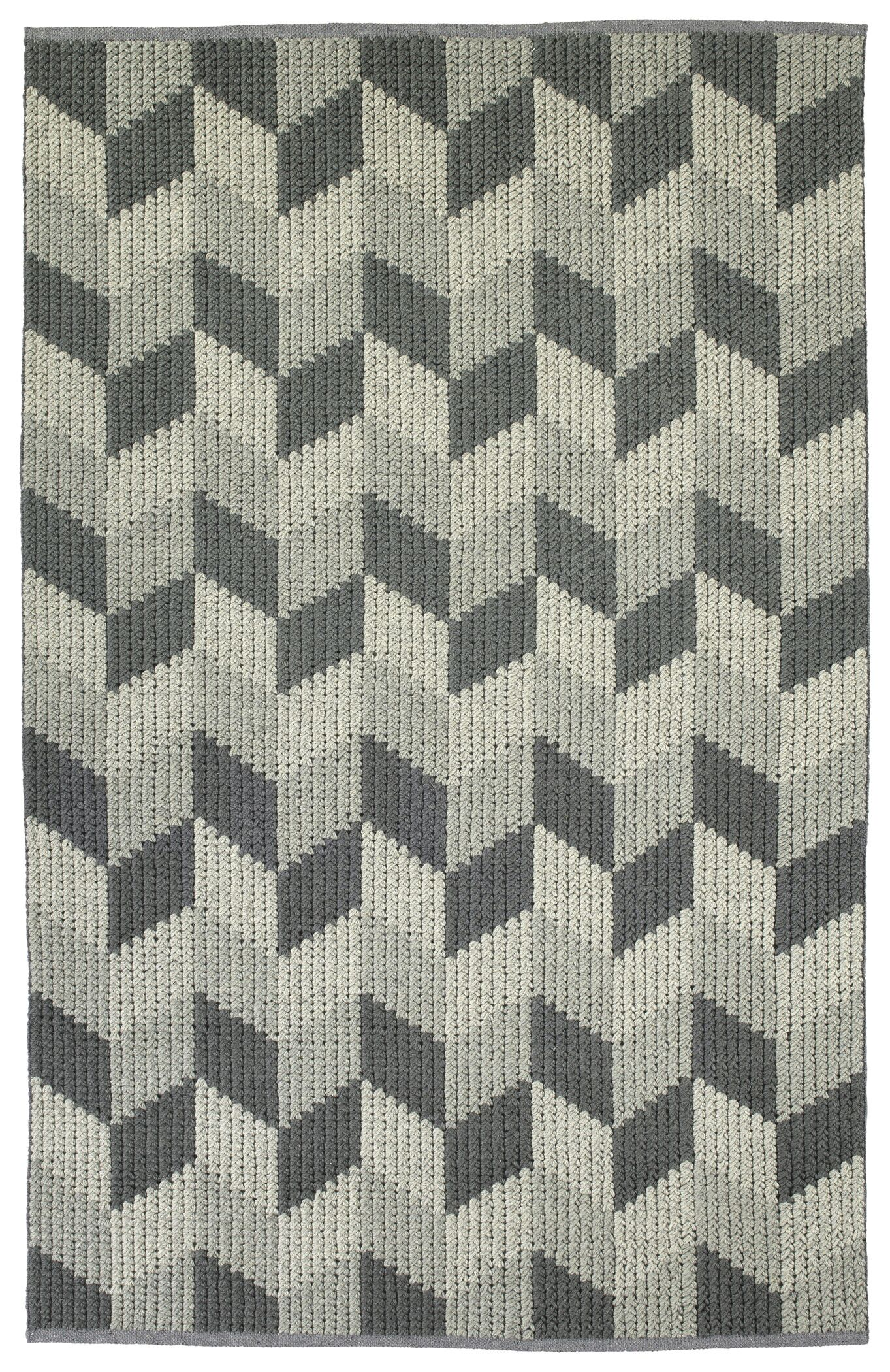 Stockstill Hand-Tufted Wool Gray/Graphite Area Rug Rug Size: Rectangle 8' x 10'