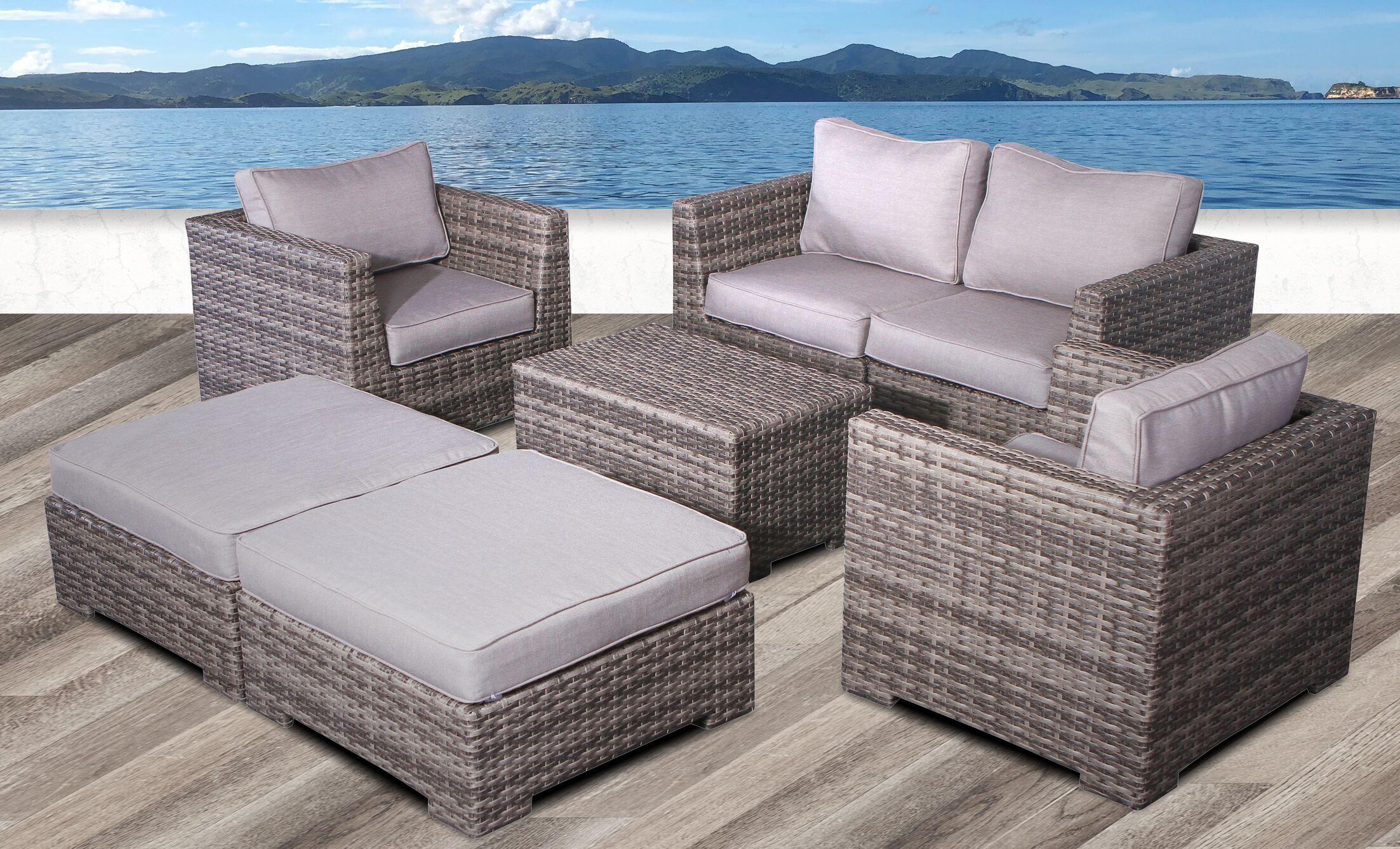 Pierson Modular 6 Piece Conversation Set with Cushions