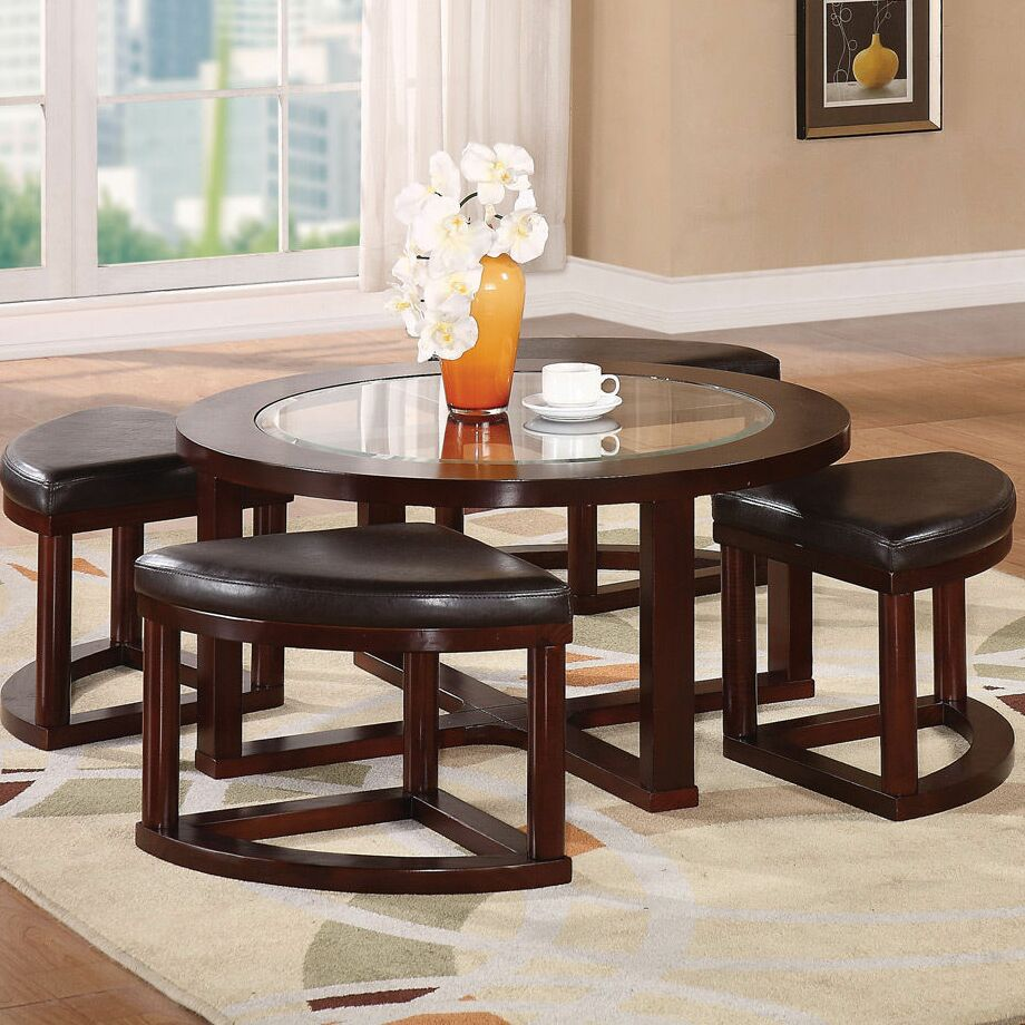 Chinnici Coffee Table with Ottomans