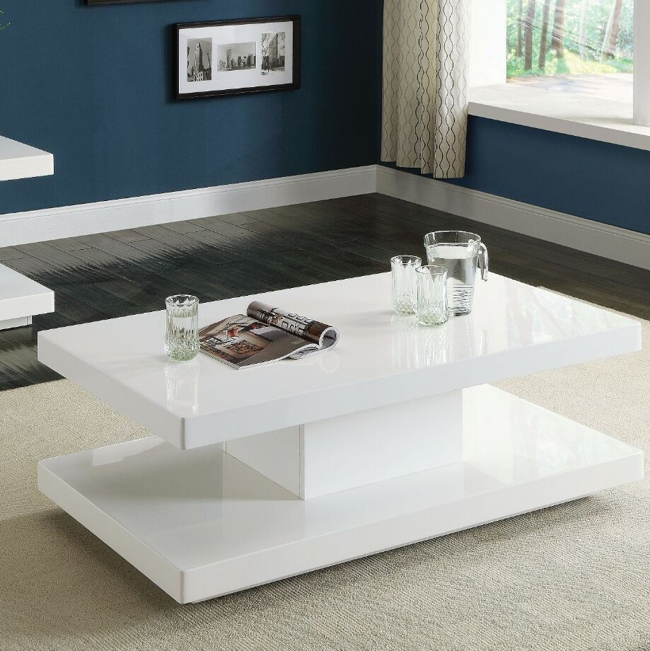 Yekatom Superior Coffee Table Color: White