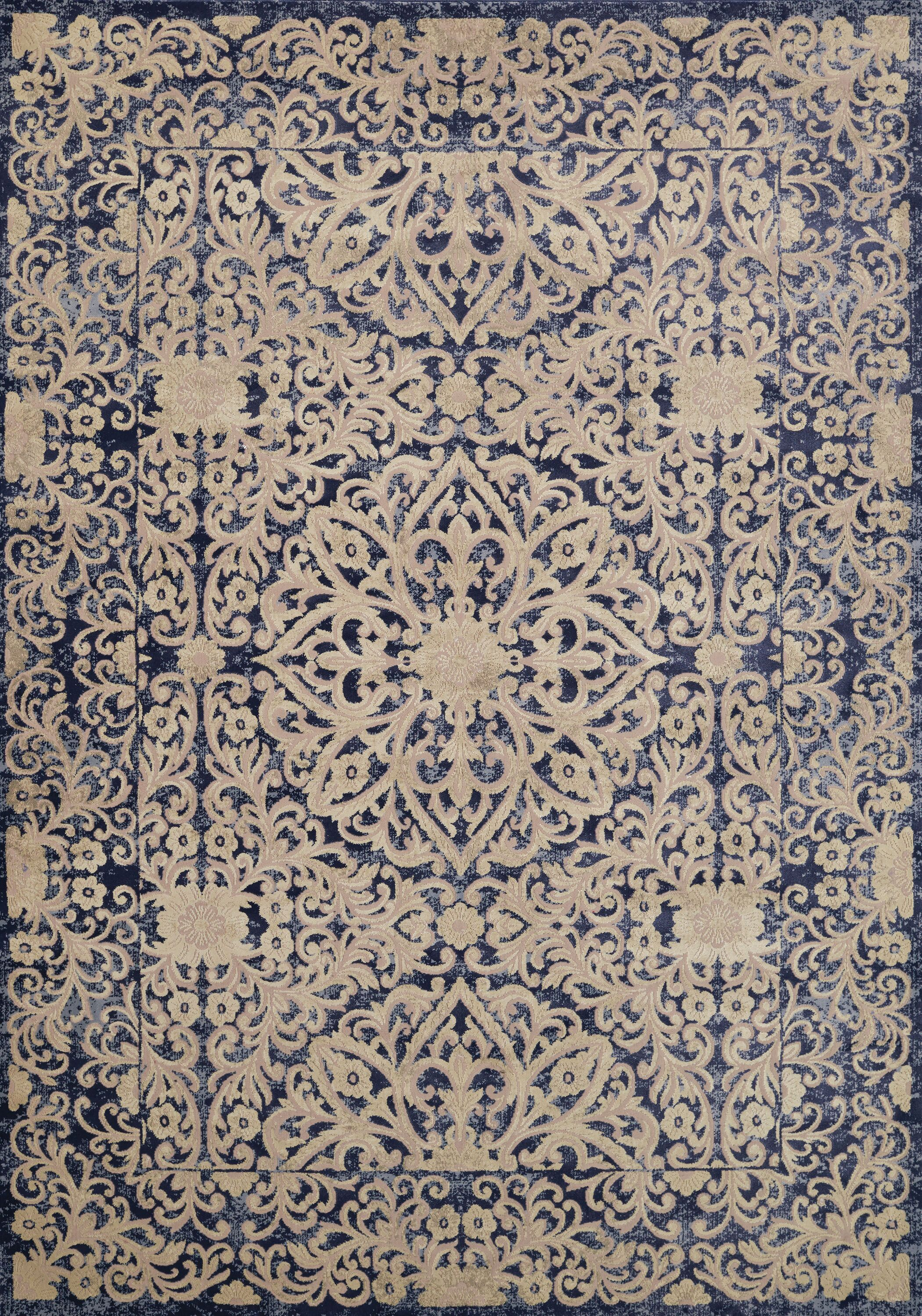 Sevilla Panama Jack Original Blue/Beige Area Rug Rug Size: Rectangle 5'3