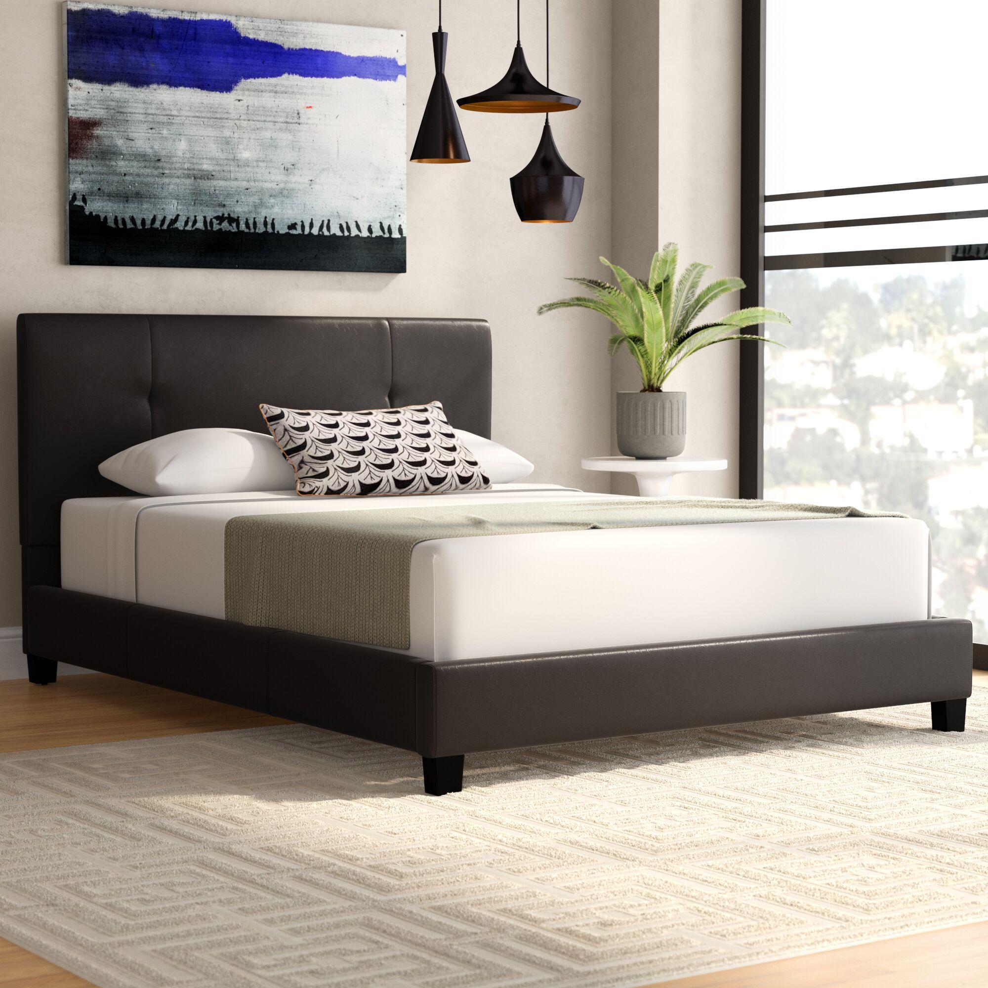 Miranda Upholstered Platform Bed Size: Queen