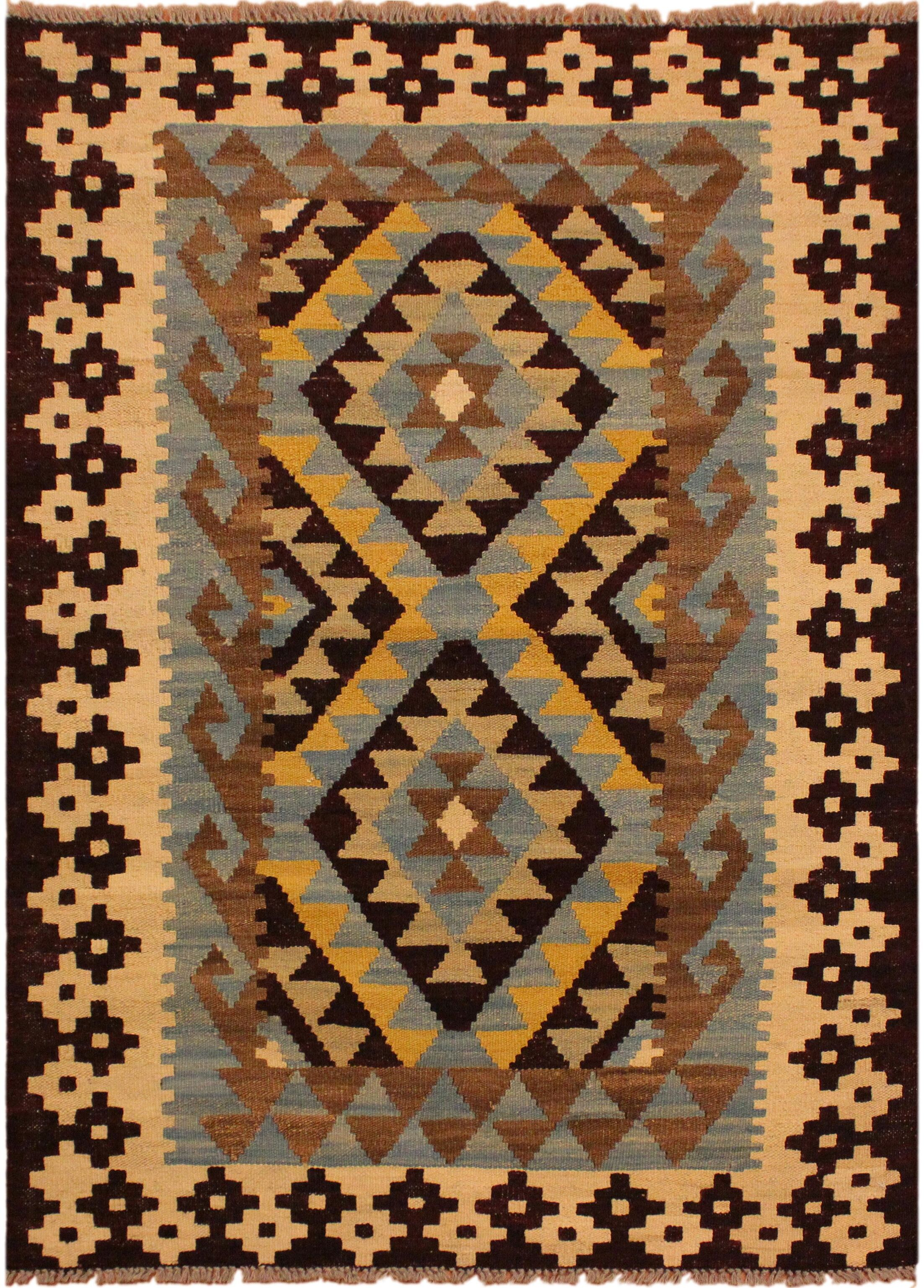 One-of-a-Kind Bakerstown Hand-Woven Brown/Ivory Area Rug