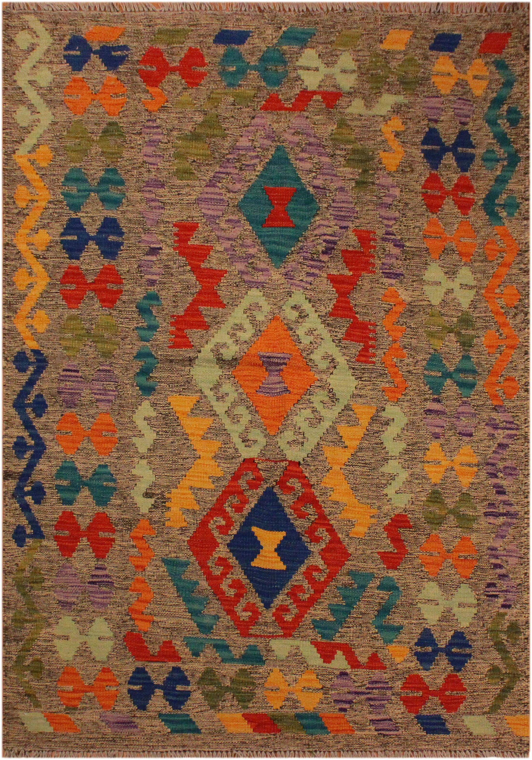 One-of-a-Kind Bakerstown Hand-Woven Beige/Blue Area Rug