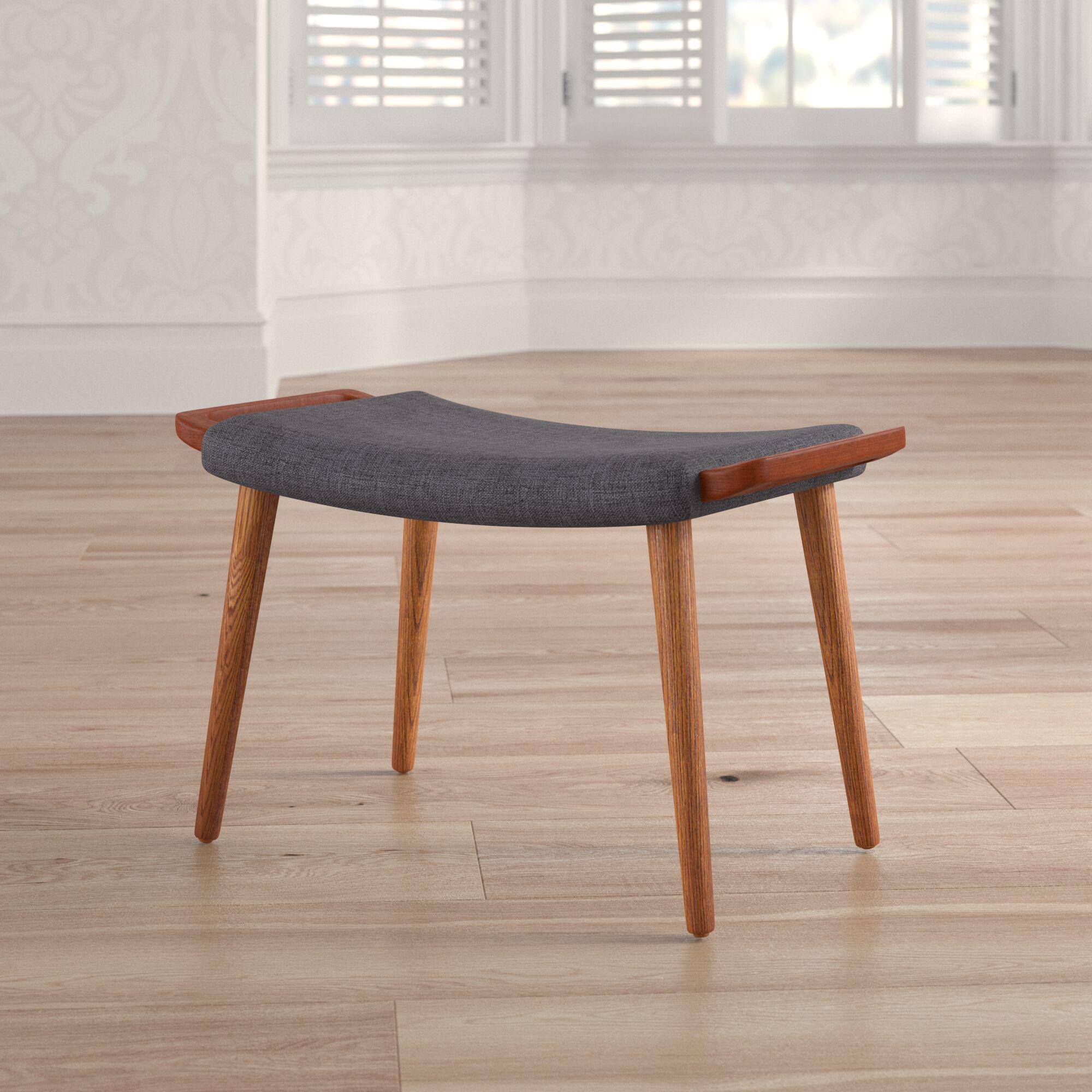 Quintin Ottoman Upholstery: Gray