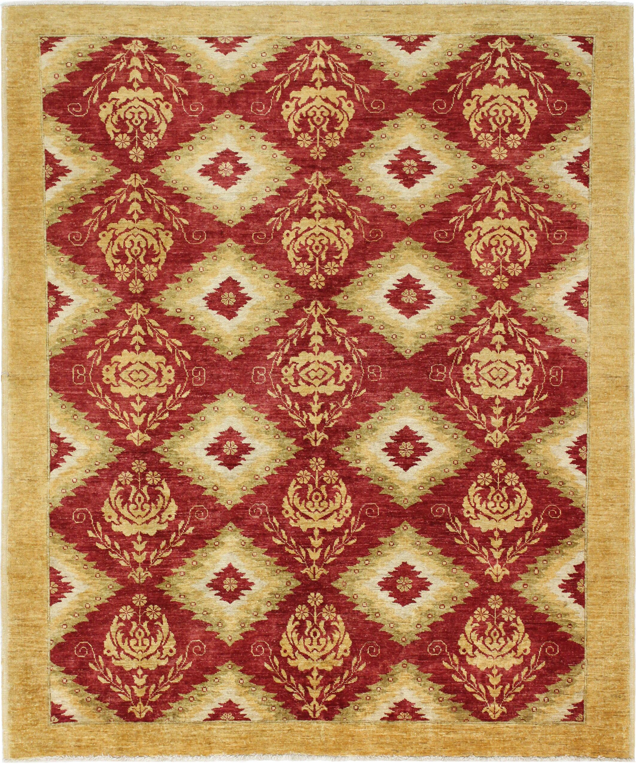 One-of-a-Kind Curtsinger Hand-Woven Wool Red/Gold Area Rug