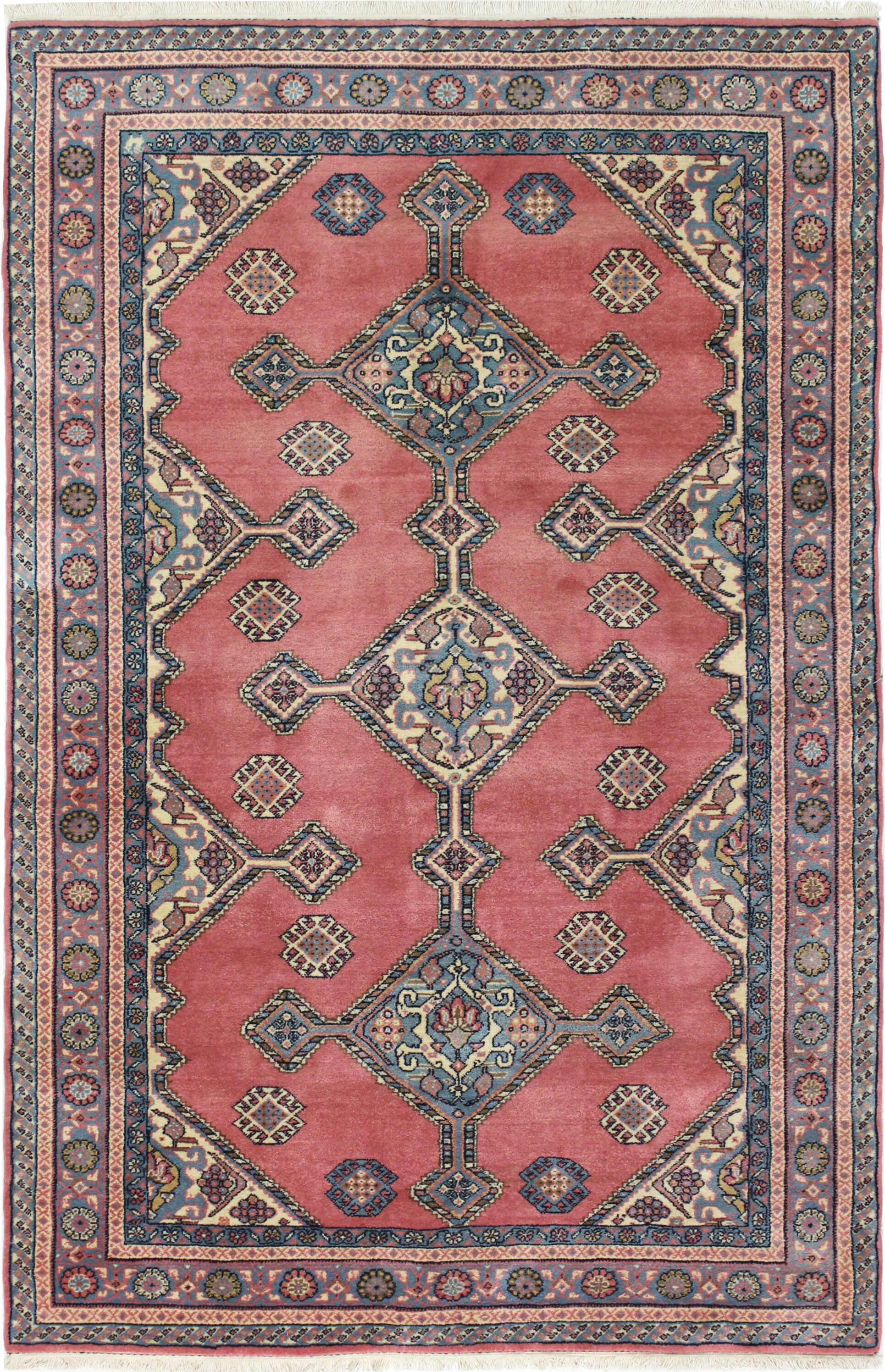 One-of-a-Kind Bardin Hand-Woven Wool Dusty Rose Area Rug