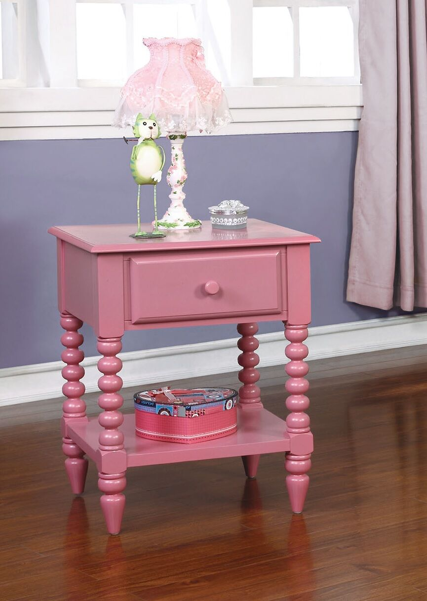 Brower 1 Drawer Nightstand Color: Pink