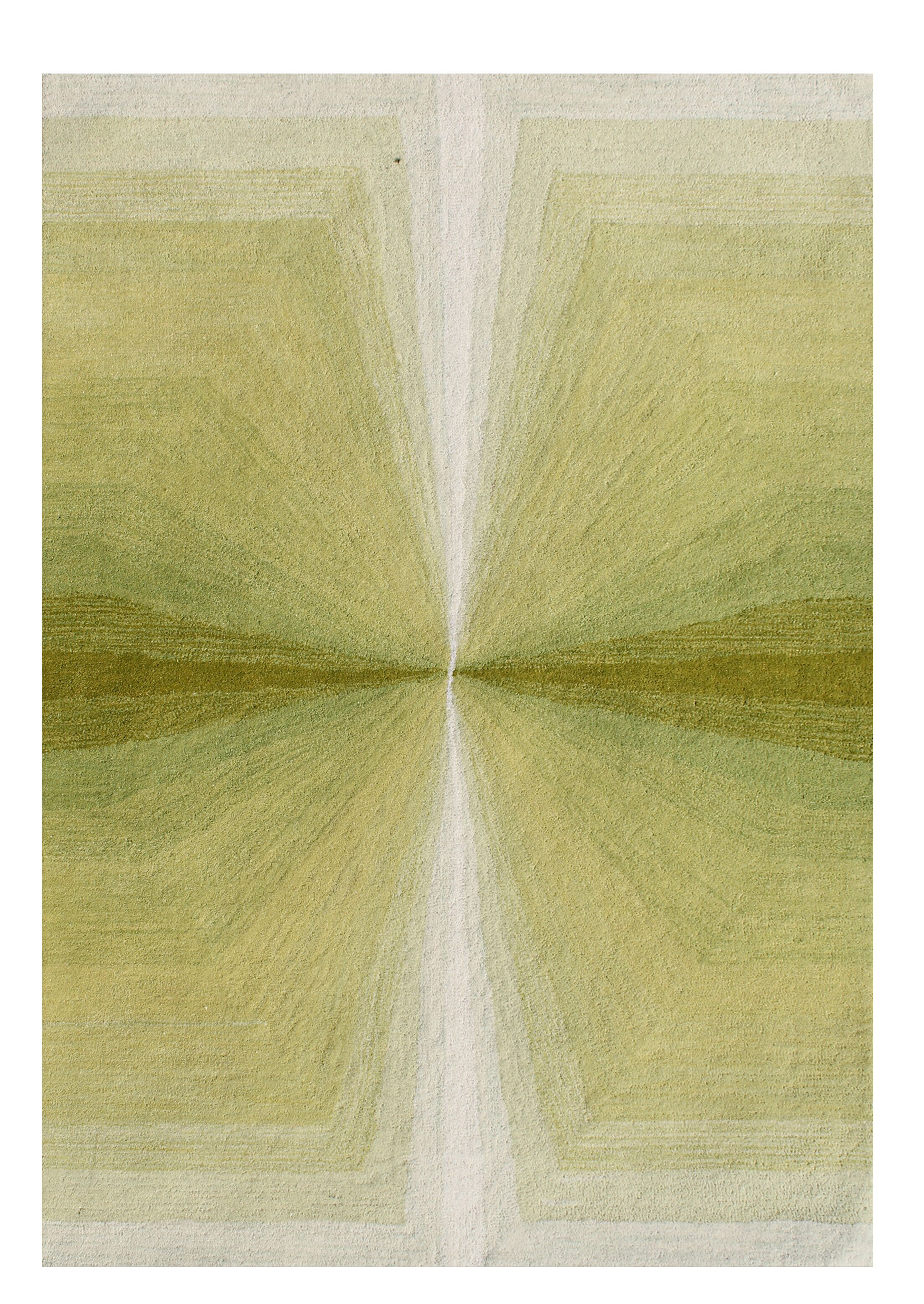 Rafael Shades of Illusion Hand-Tufted Wool Green Area Rug Rug Size: Rectangle 8' x 10'