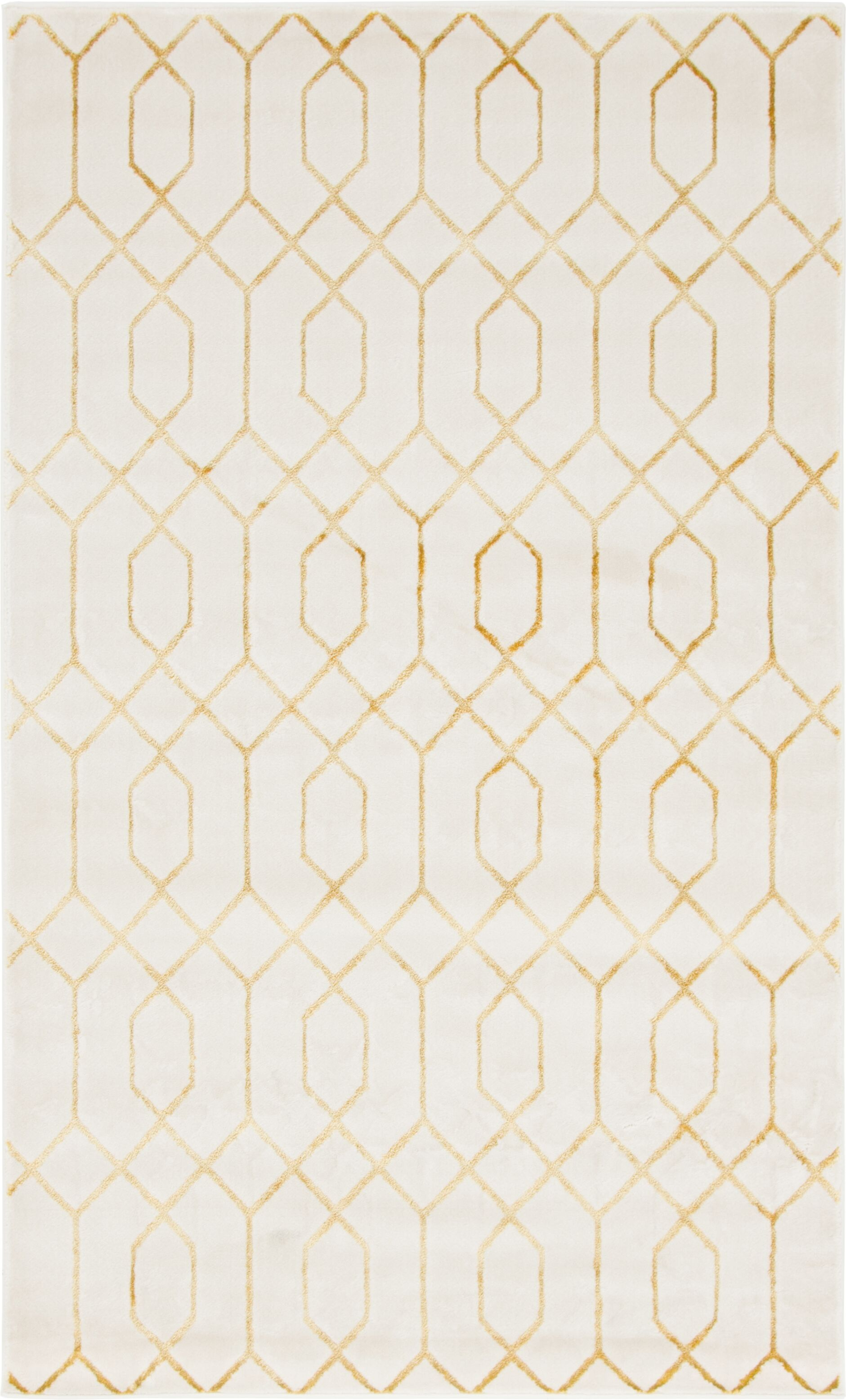 Glam Beige Area Rug Rug Size: Rectangle 5' x 8'