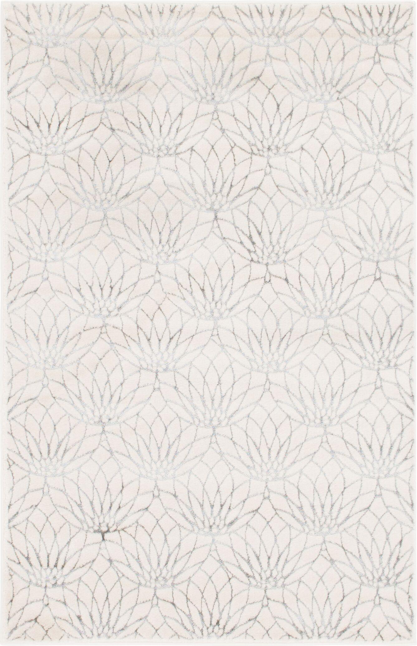 Glam Ivory Area Rug Rug Size: Rectangle 4' x 6'
