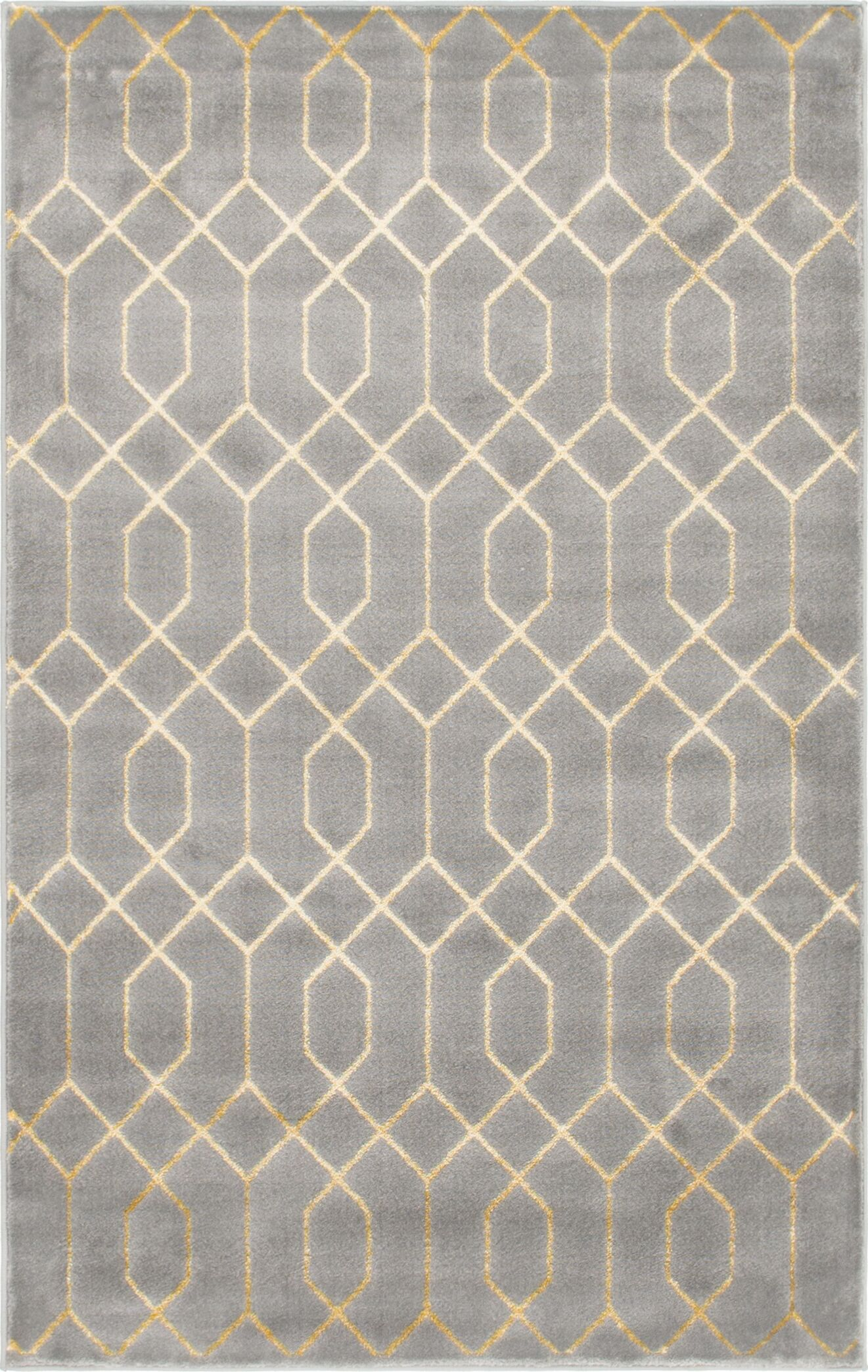 Glam Gray Area Rug Rug Size: Rectangle 4' x 6'